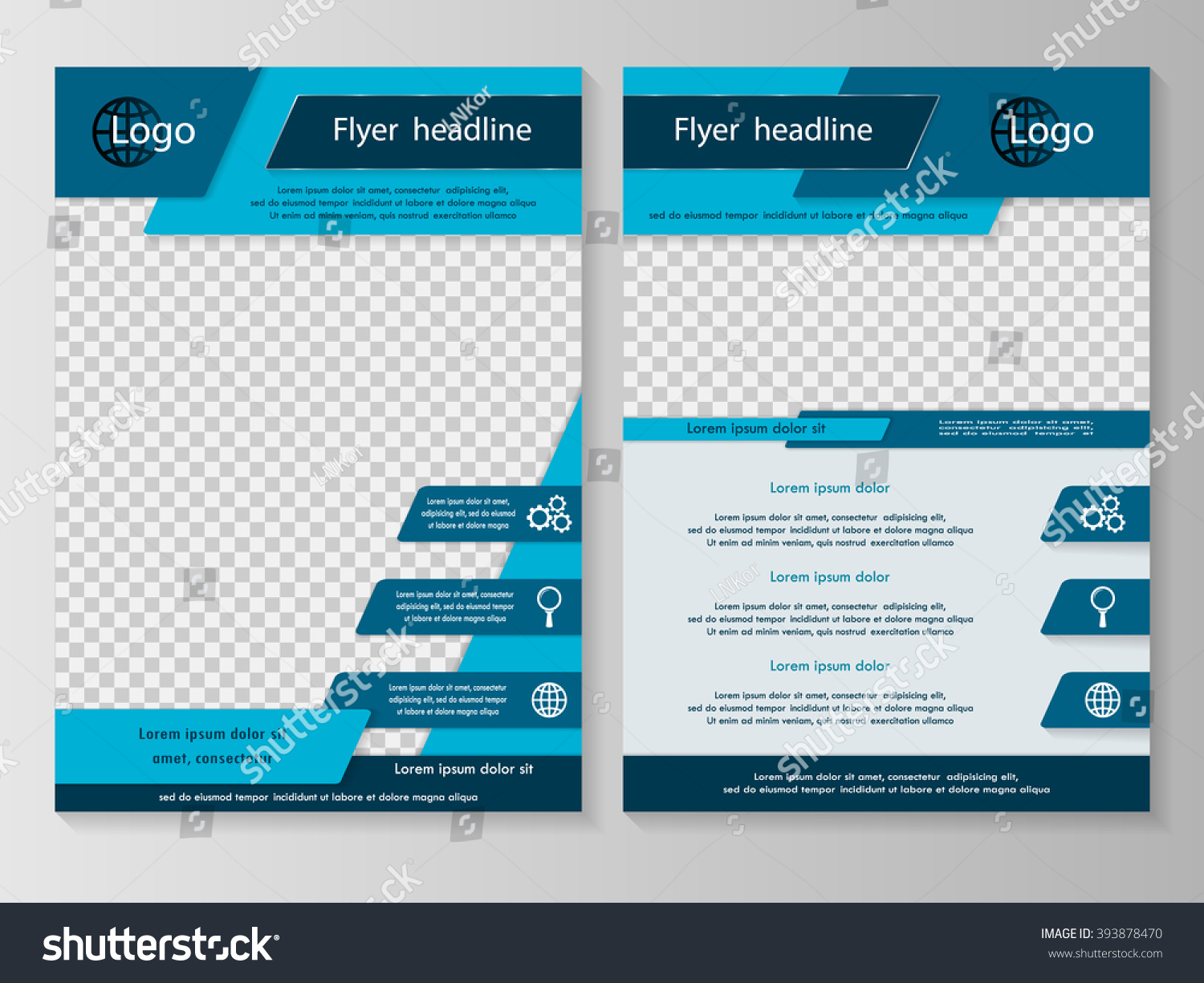 Vector Flyer Template Design Business Brochure Vector – Blue Flyer Template