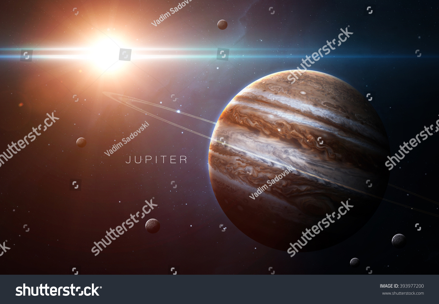 Jupiter High resolution 3D images presents planets of the solar system This image elements furnished by NASA