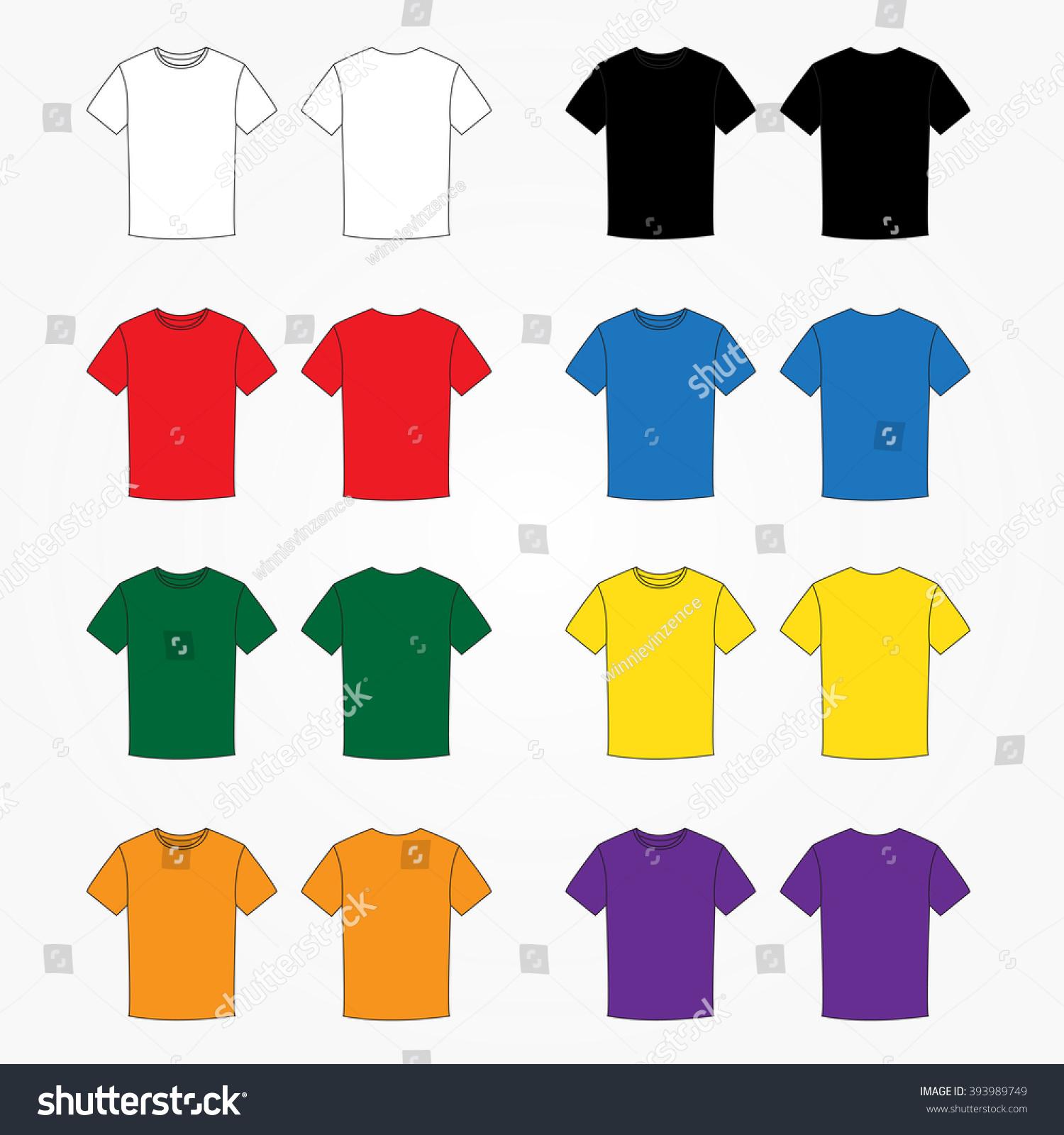 Color Tshirt Template Vector Stock Vector 393989749 - Shutterstock