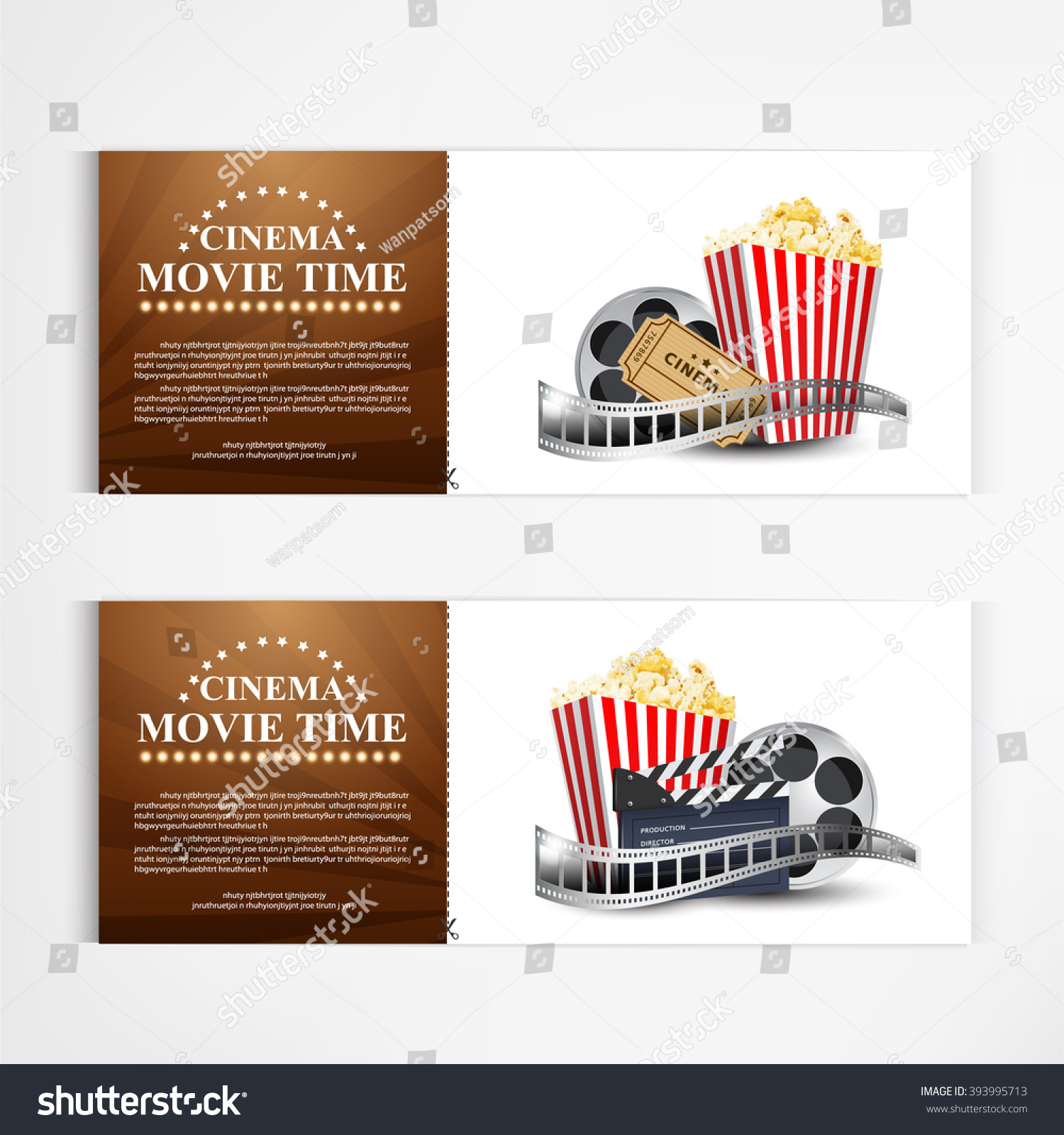 Cinema Movie Poster Template Modern Pattern Vector Design Ez Canvas