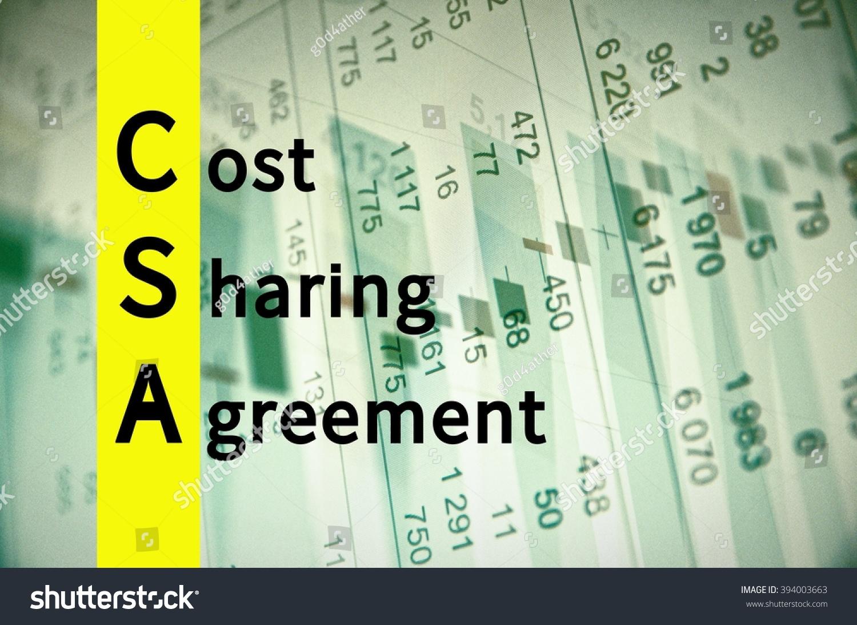 Acronym Csa Cost Sharing Agreement Stock Illustration 394003663