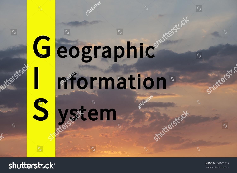 Acronym GIS Geographic Information Systemภาพประกอบสต็อก
