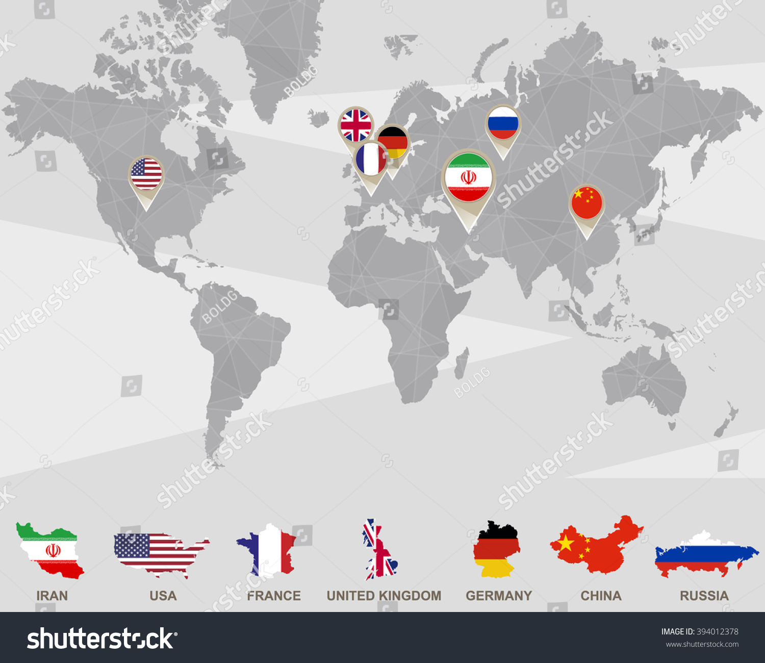 World map iran usa france uk stock illustration 394012378 world map iran usa france uk stock illustration 394012378 shutterstock sciox Images