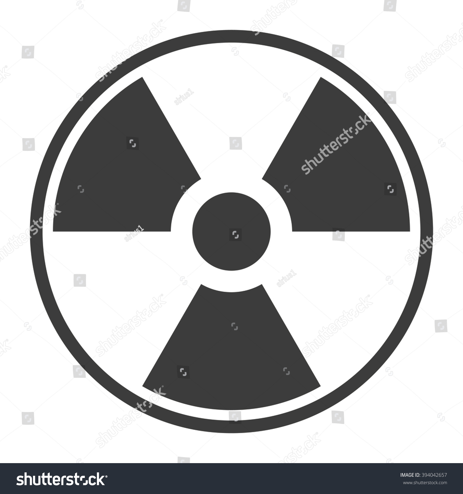 Symbol Radioactive Contamination Highlights On Black Stock Vector
