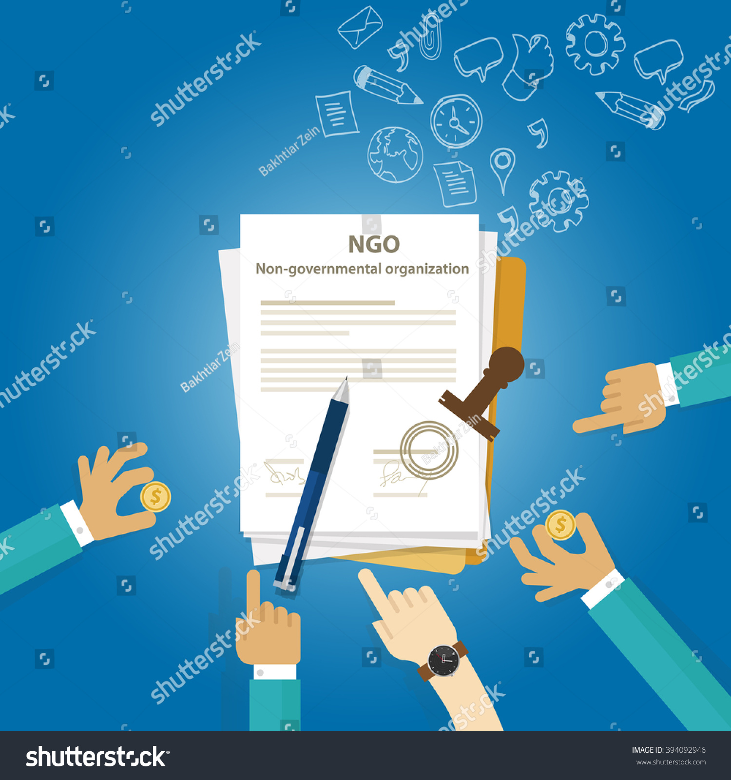 ngo non government organization types business stock vector ngo non government organization types of business corporation organization entity