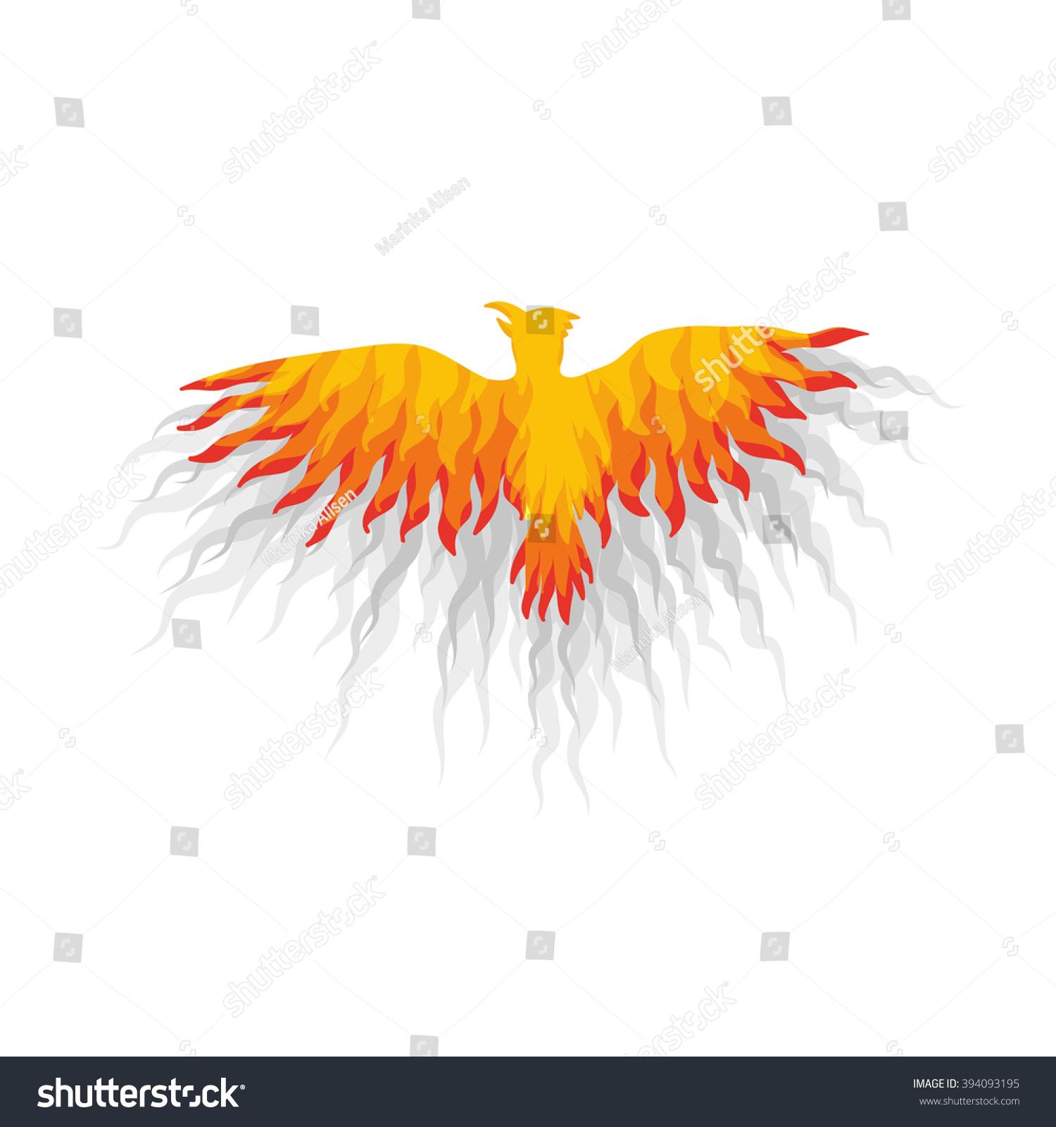 Red phoenix bird on white background stock vector 394093195 red phoenix bird on white background vector illustration voltagebd Choice Image