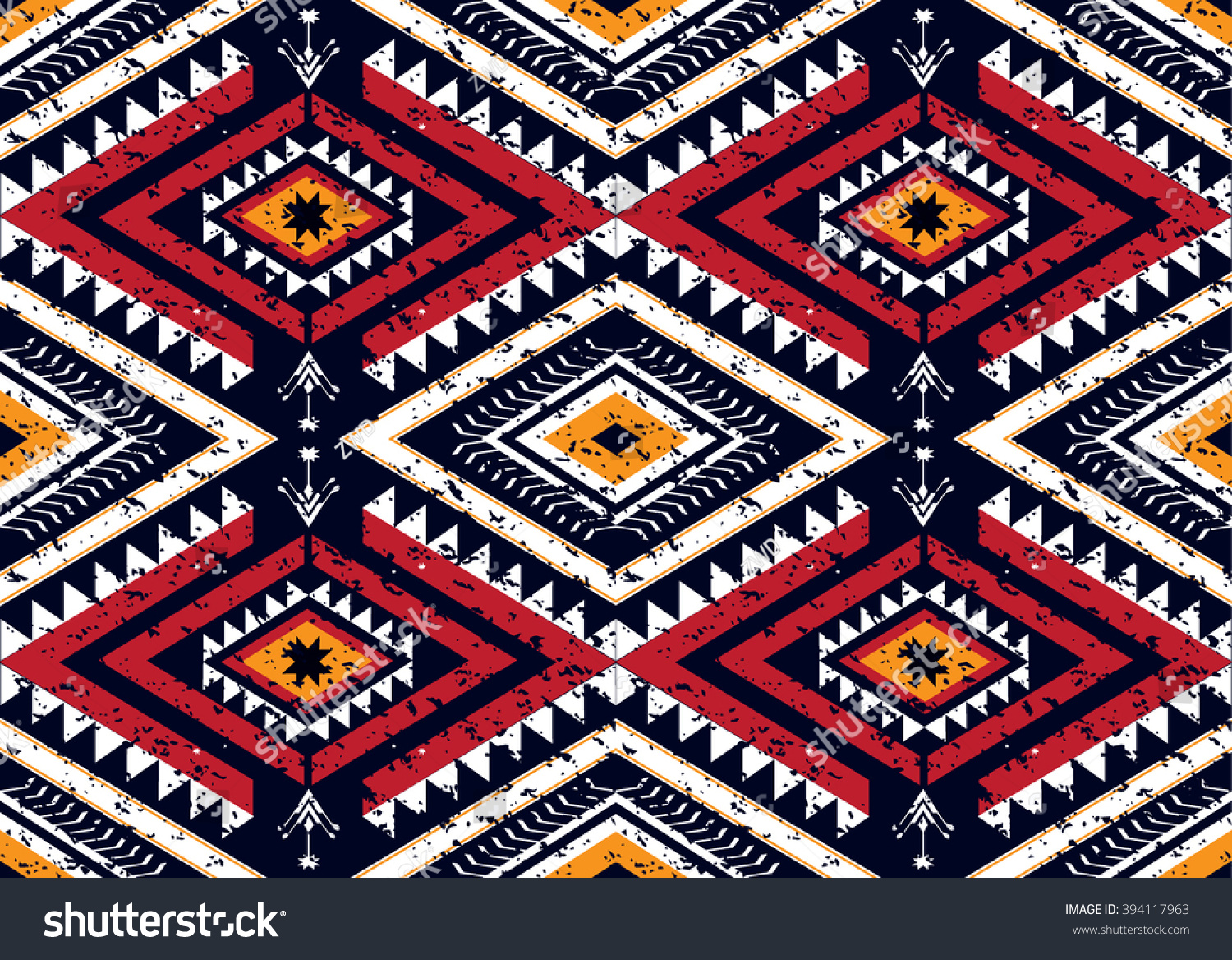 Geometric ethnic oriental seamless pattern traditional