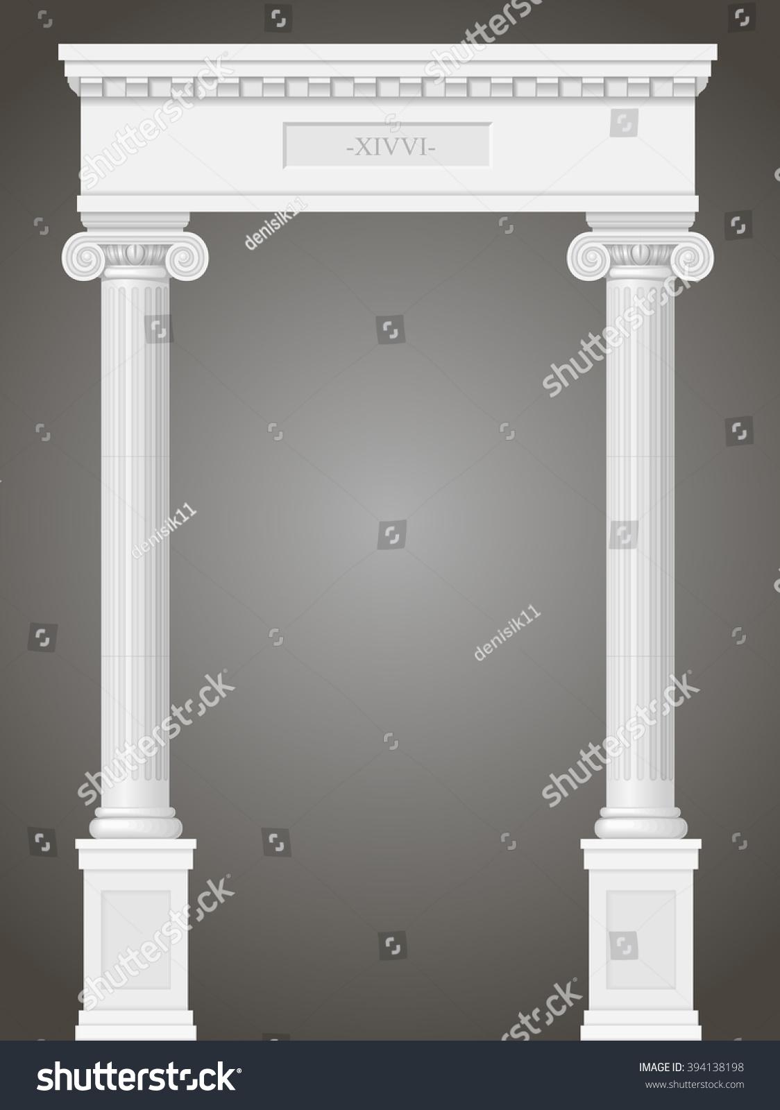 Greek Column Corinthian Animated Design Photoshop
