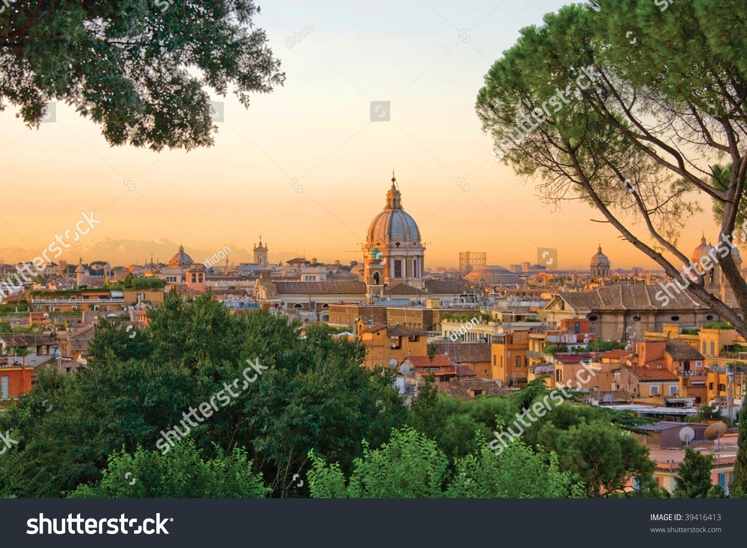 View Over Rome Janiculum Hill Rome Stock Photo Edit Now