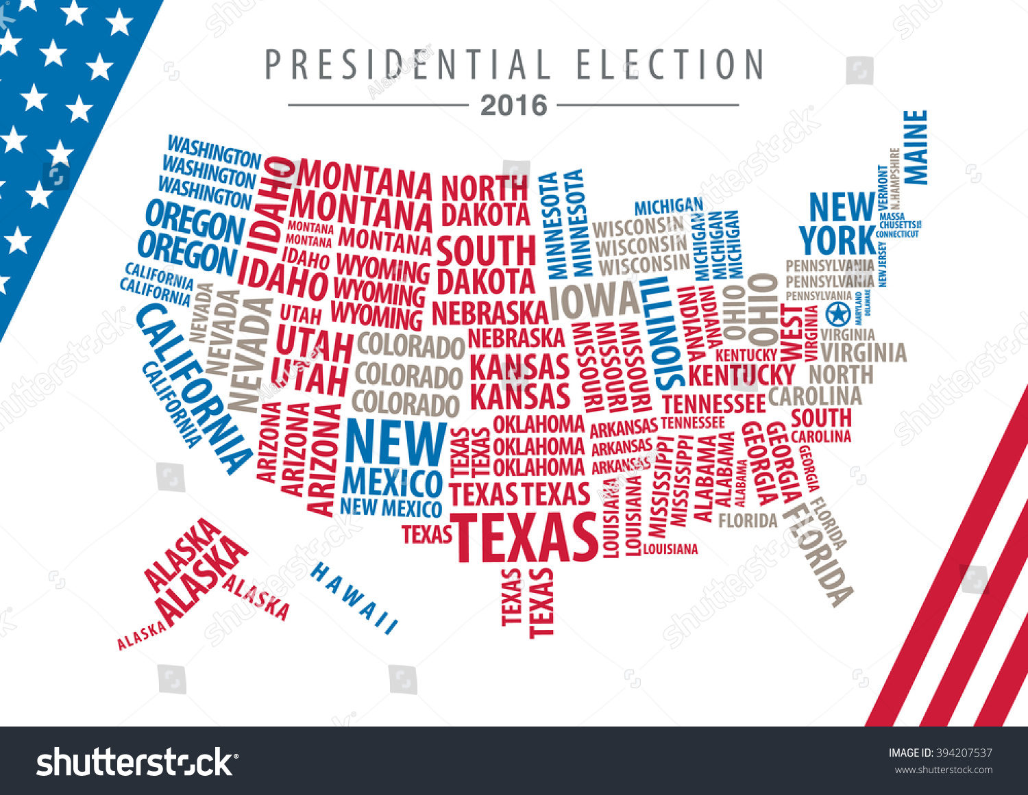 Vector Usa Presidential Election Map Stock Vector - Us electoral map vector graphic