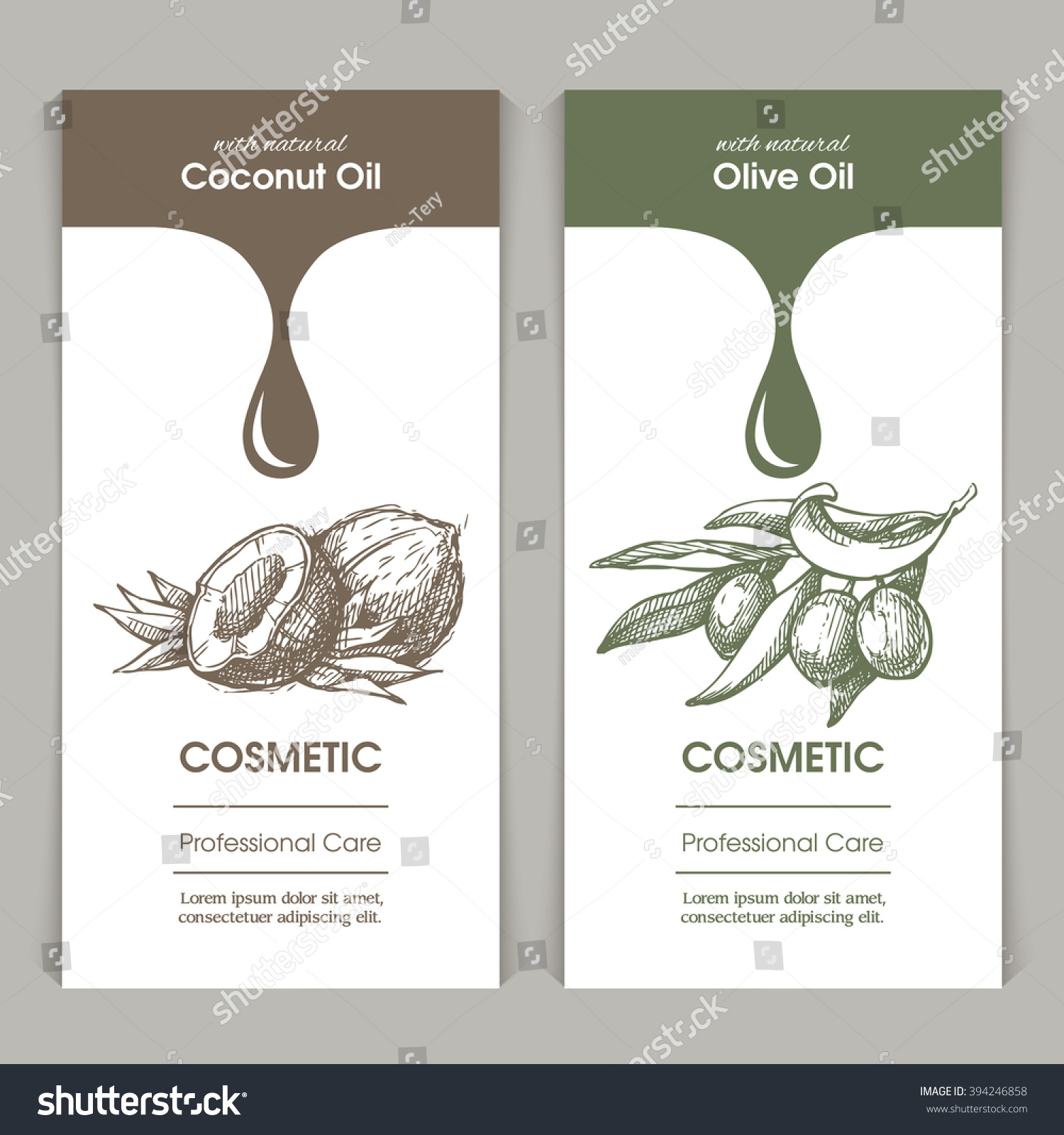 Vector Set Templates Packaging Cosmetic Label Stock Photo (Photo ...