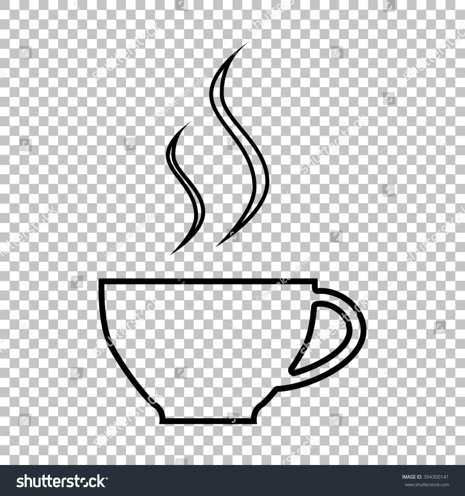 Coffee cup transparent - Cup Of Coffee Line Icon On Transparent Background
