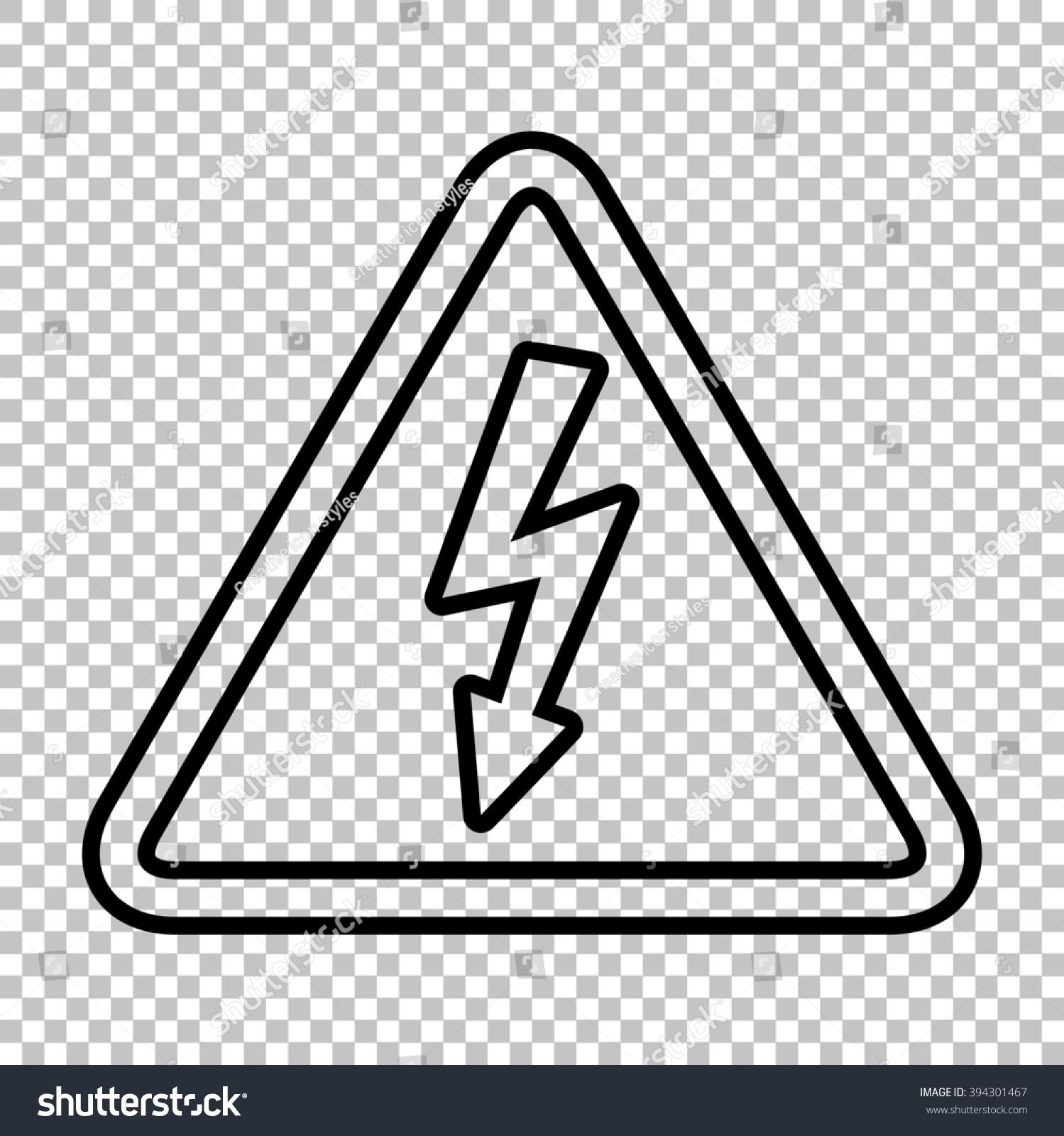 High Voltage Danger Sign Line Icon Stock Illustration 394301467 ...