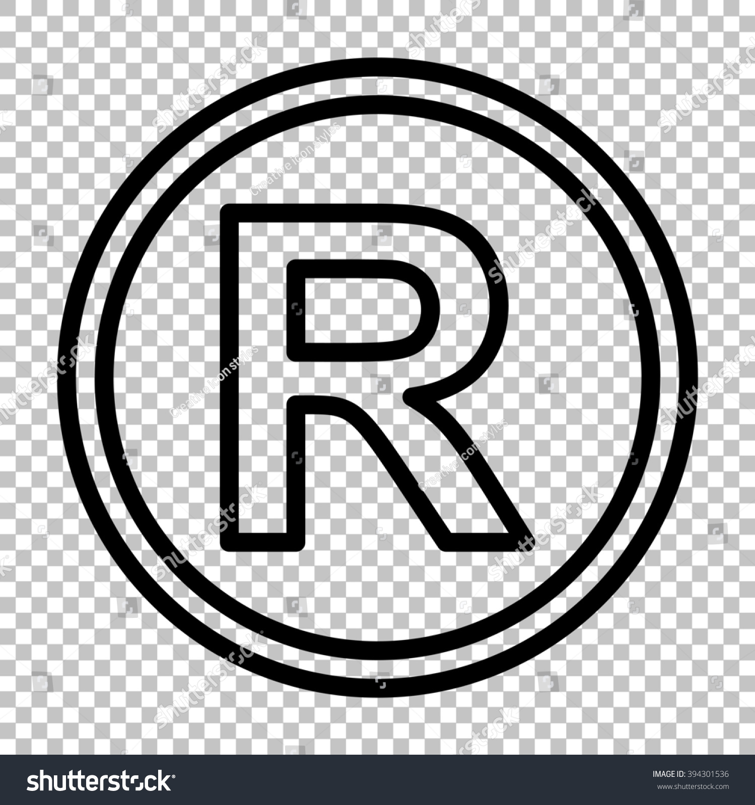 Registered trademark sign line icon on stock illustration 394301536 registered trademark sign line icon on transparent background biocorpaavc Choice Image