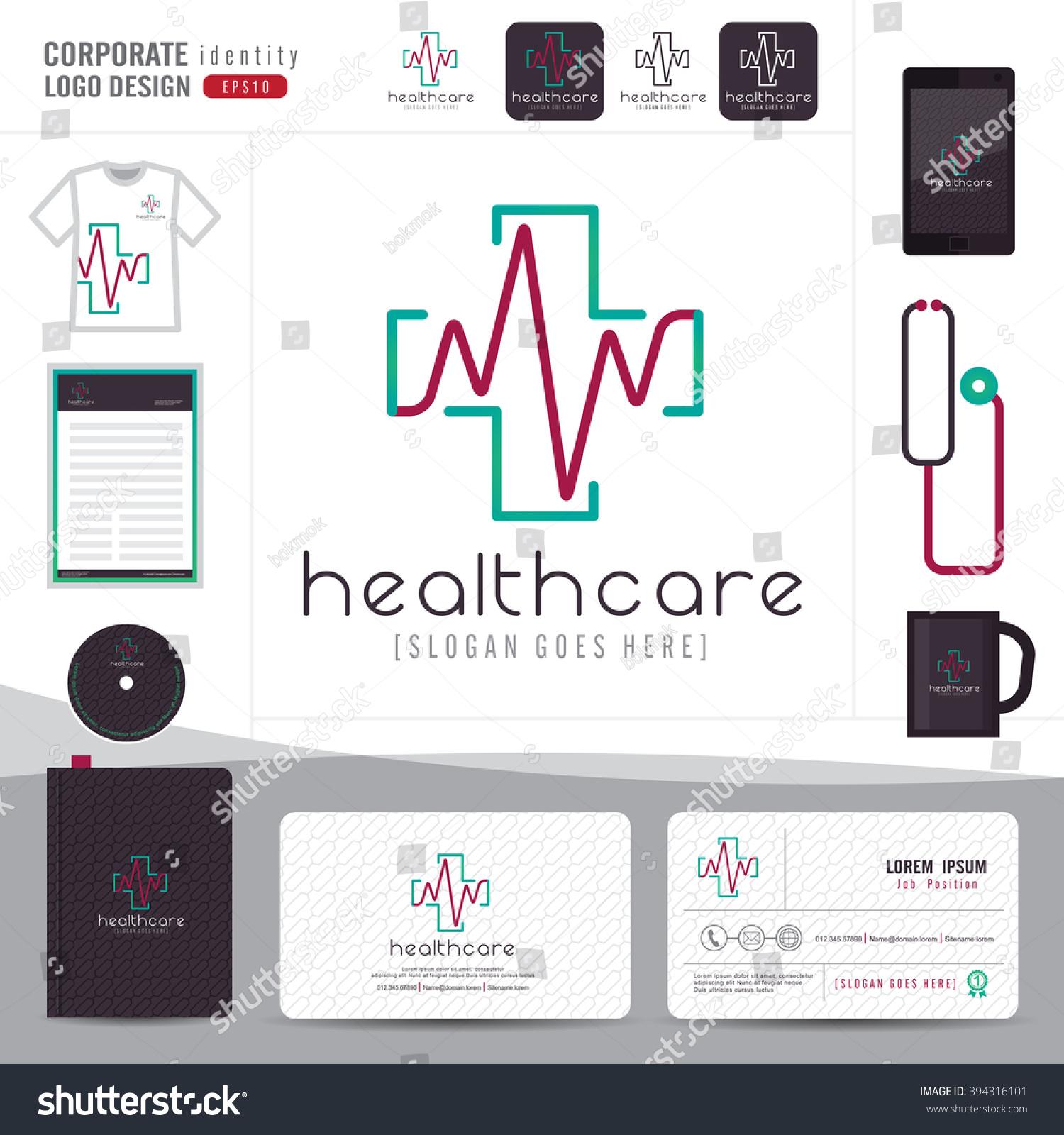 logo design medical health care hospital stock vector