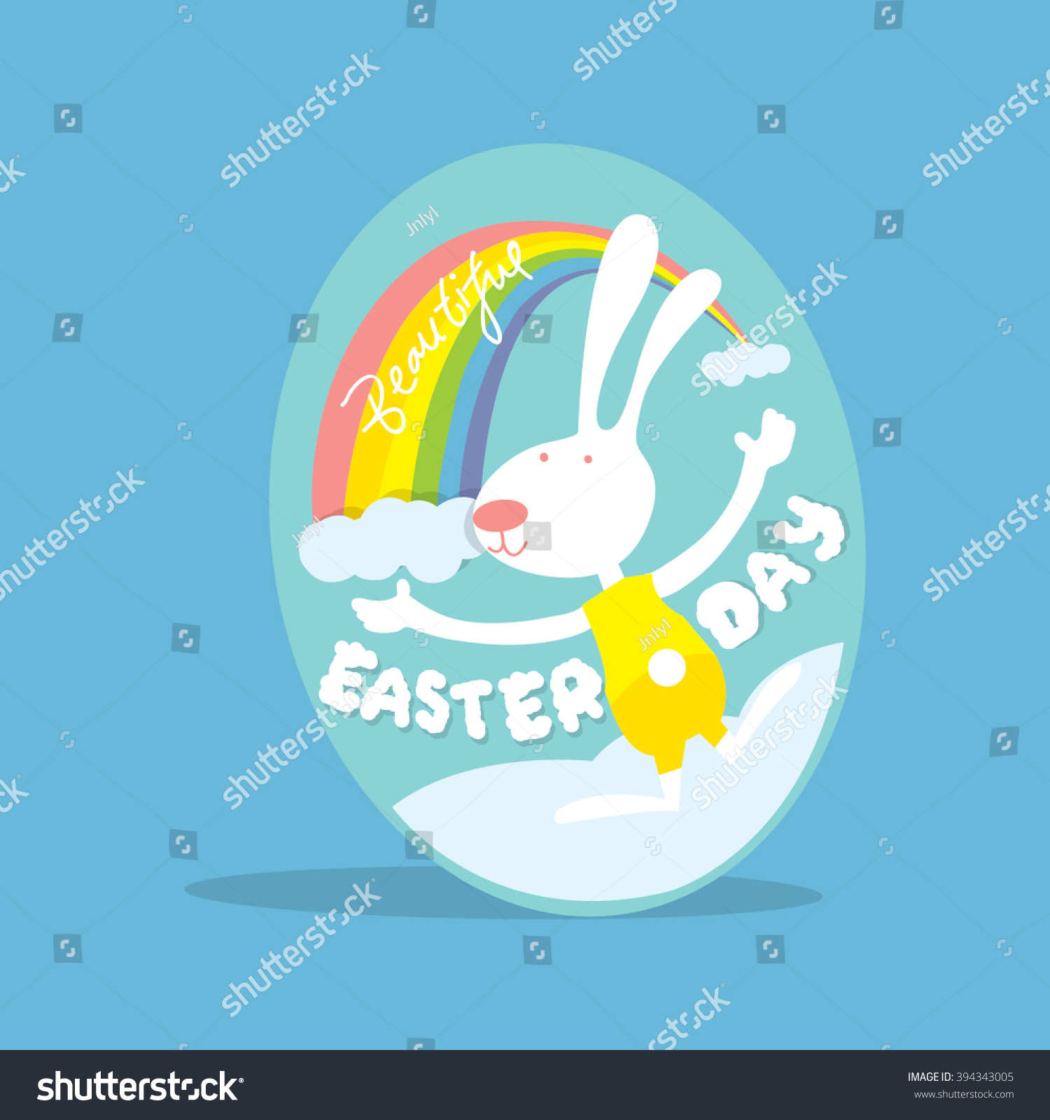 Happy Easter Day Greetings Card Easter Stock Vector 394343005
