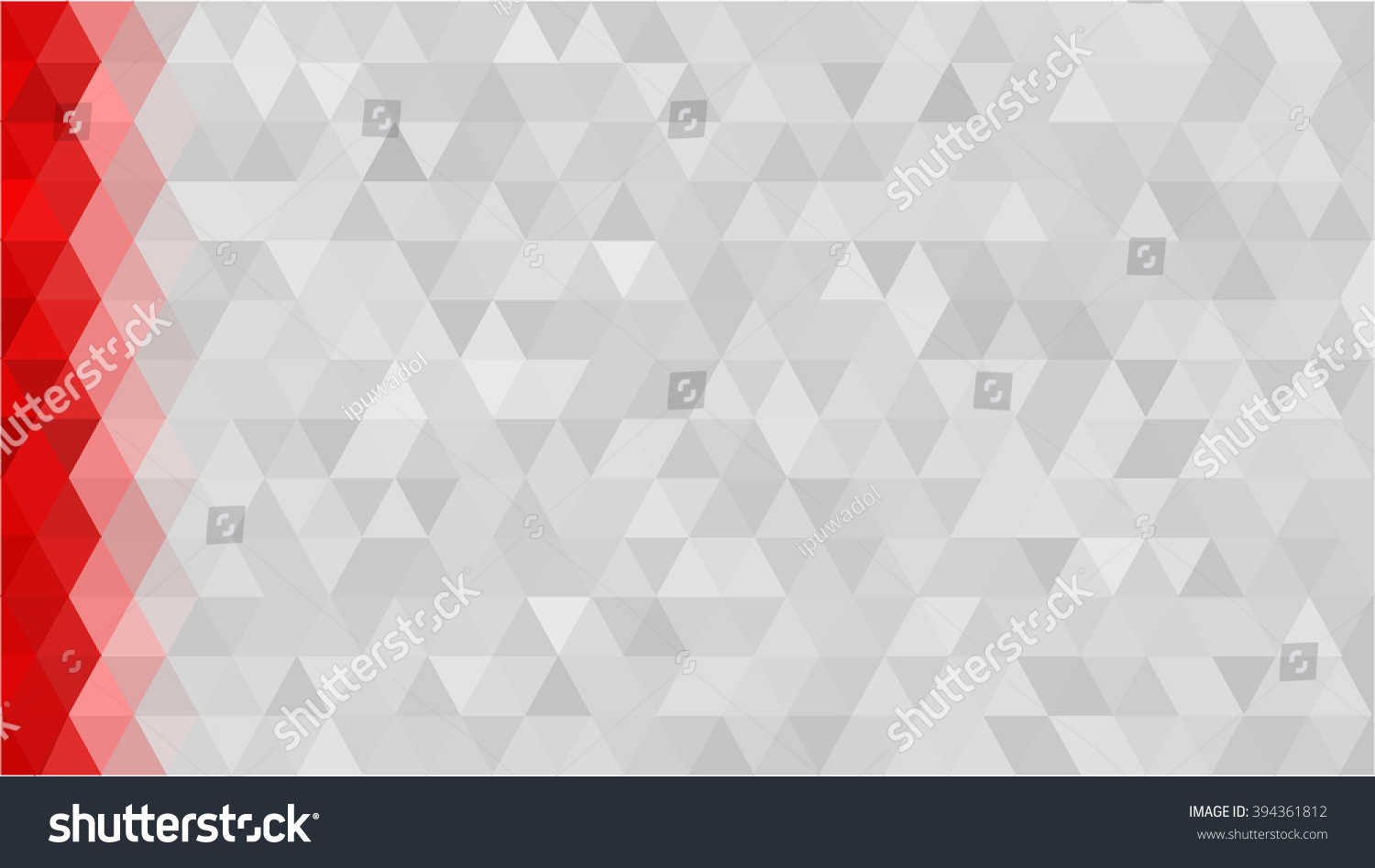 Red Gray Low Poly Background Diamond 394361812