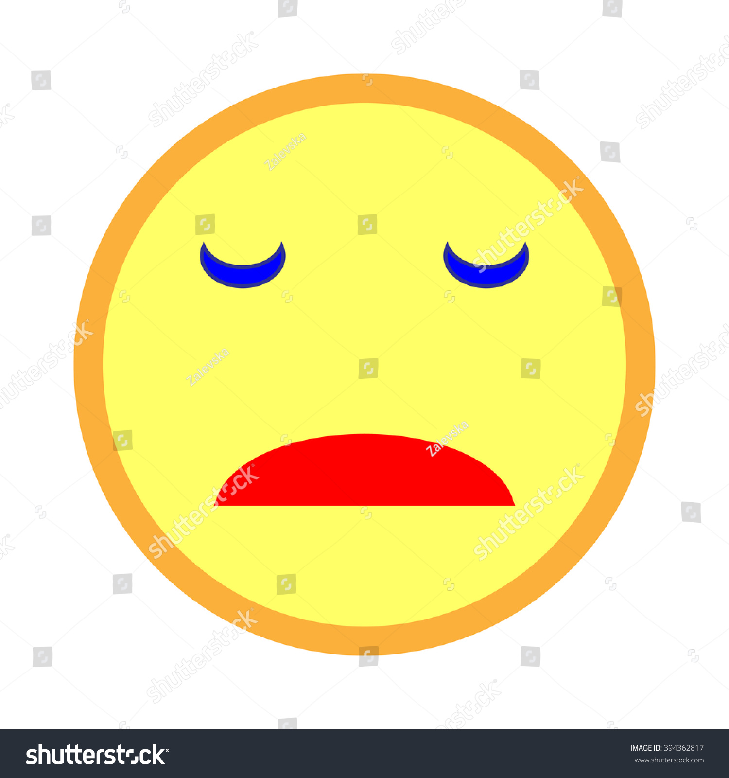 Sad smiley emoticon on white background stock vector 394362817 sad smiley emoticon on white background vector illustration of yellow sad smile smile icon buycottarizona Choice Image