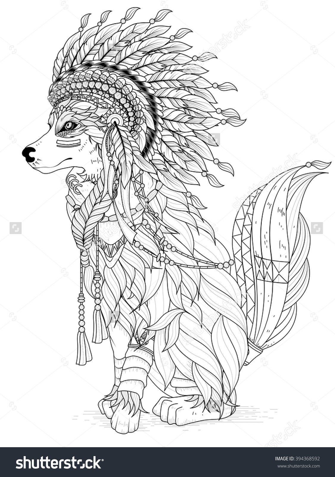 indian and wolf coloring pages - photo#13