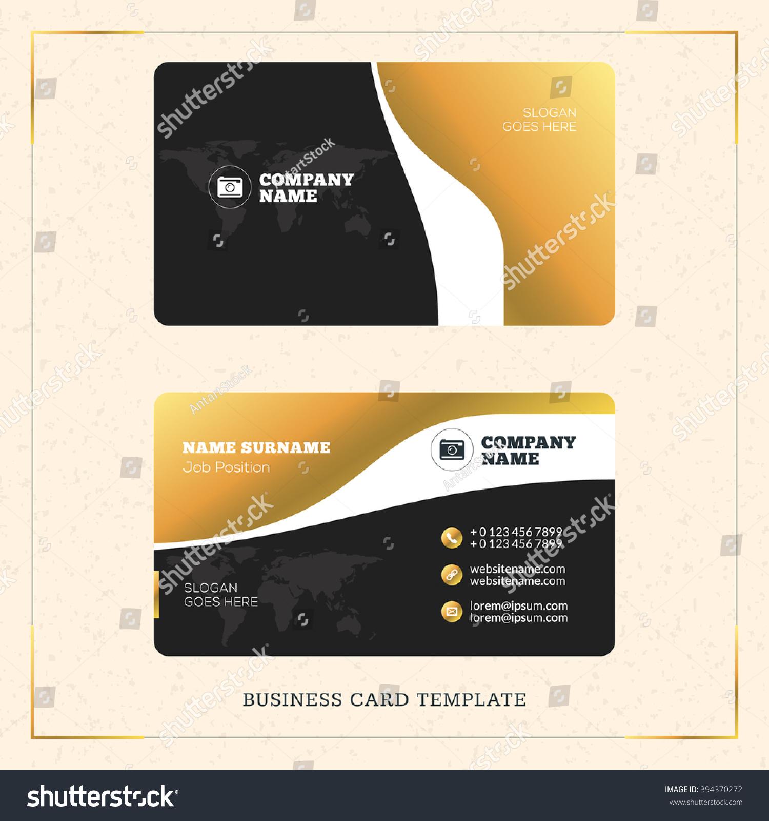 Creative Golden Business Visiting Card Vector Stock Vector 394370272 ...