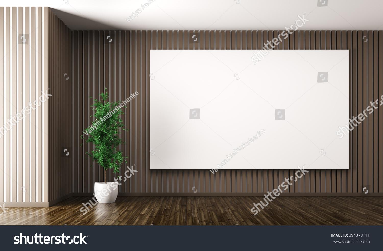 Empty Interior Living Room Big Poster Stock Illustration 394378111 ...