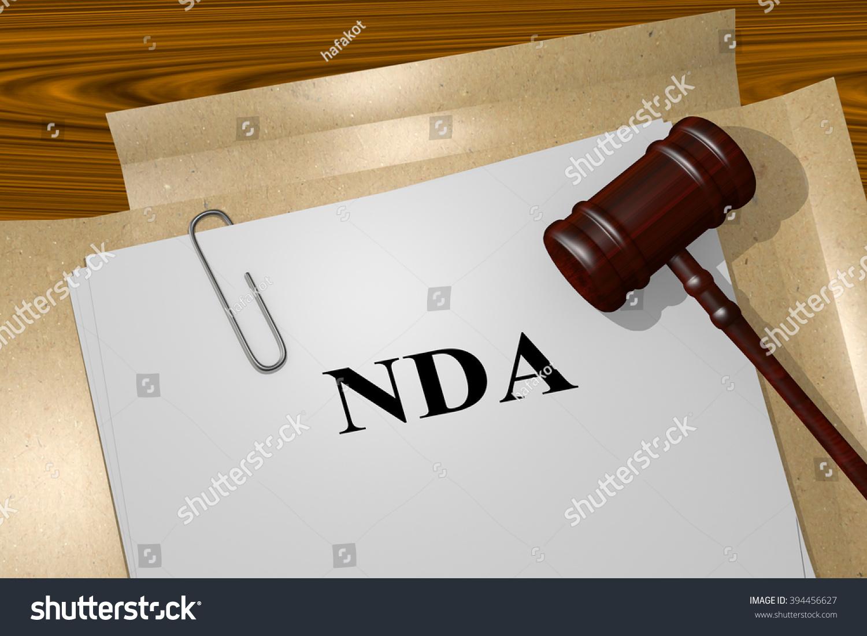 Render Illustration Nda Title On Legal Stock Illustration ...