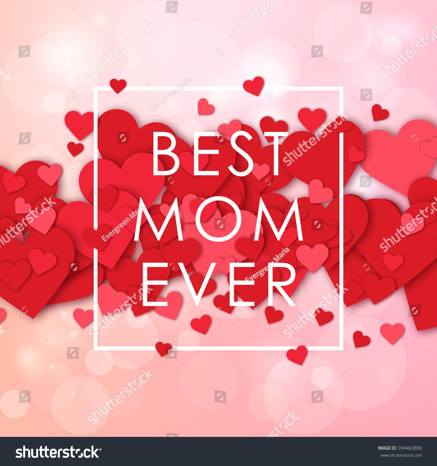 Happy Mothers Day Design Elements Vector Stock-vektorgrafik ...