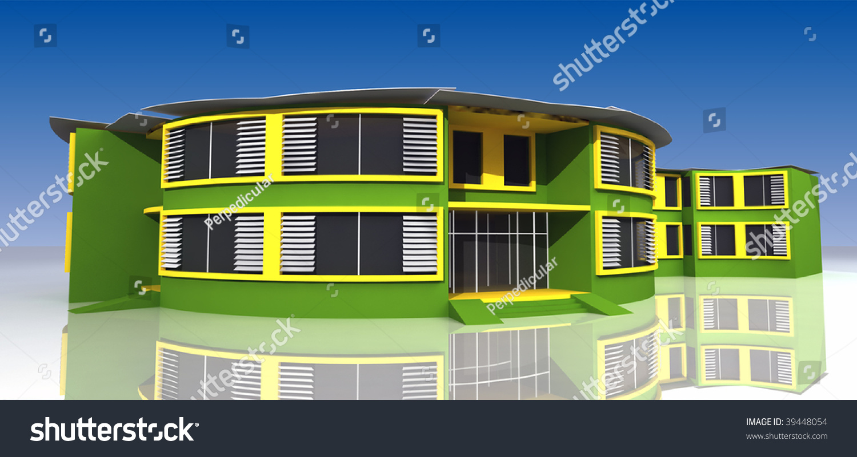School exterior design stock photo 39448054 shutterstock for Exterior design institute