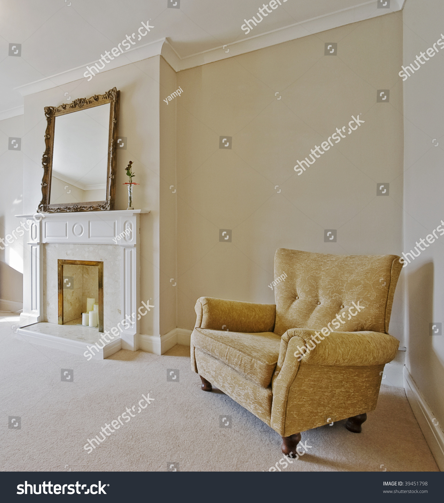 Victorian Style Living Room Vintage Armchair Stock Photo Edit Now 39451798
