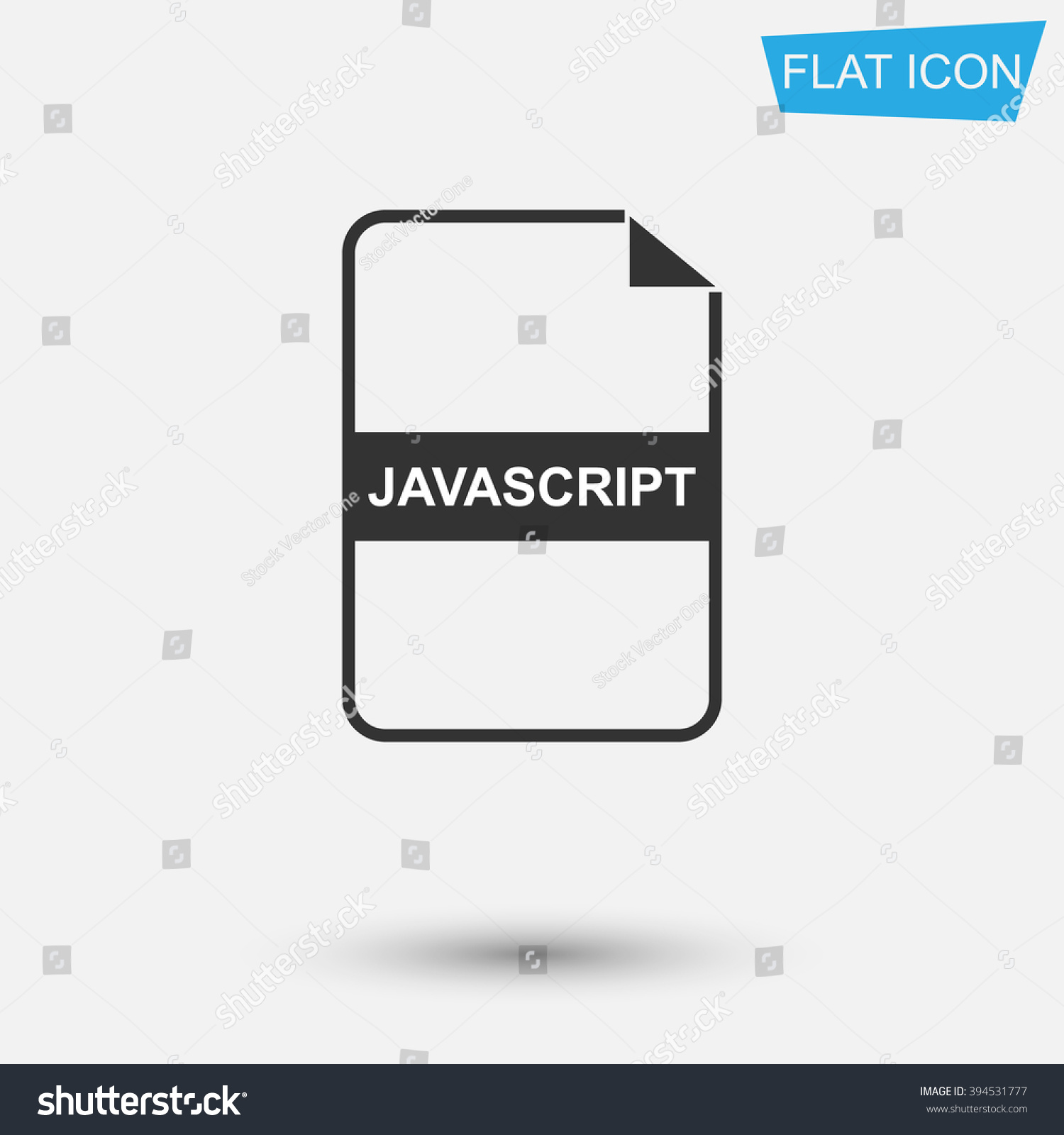 Javascript File Extension Flat Symbol Pictogram Stock Vector