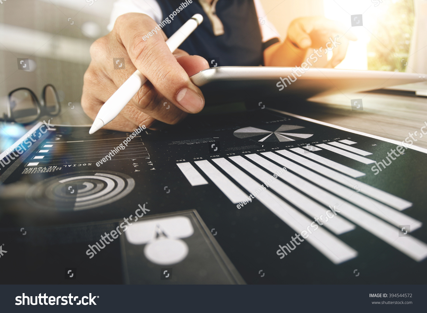 Website designer working digital tablet computer stock for Digital blueprint maker