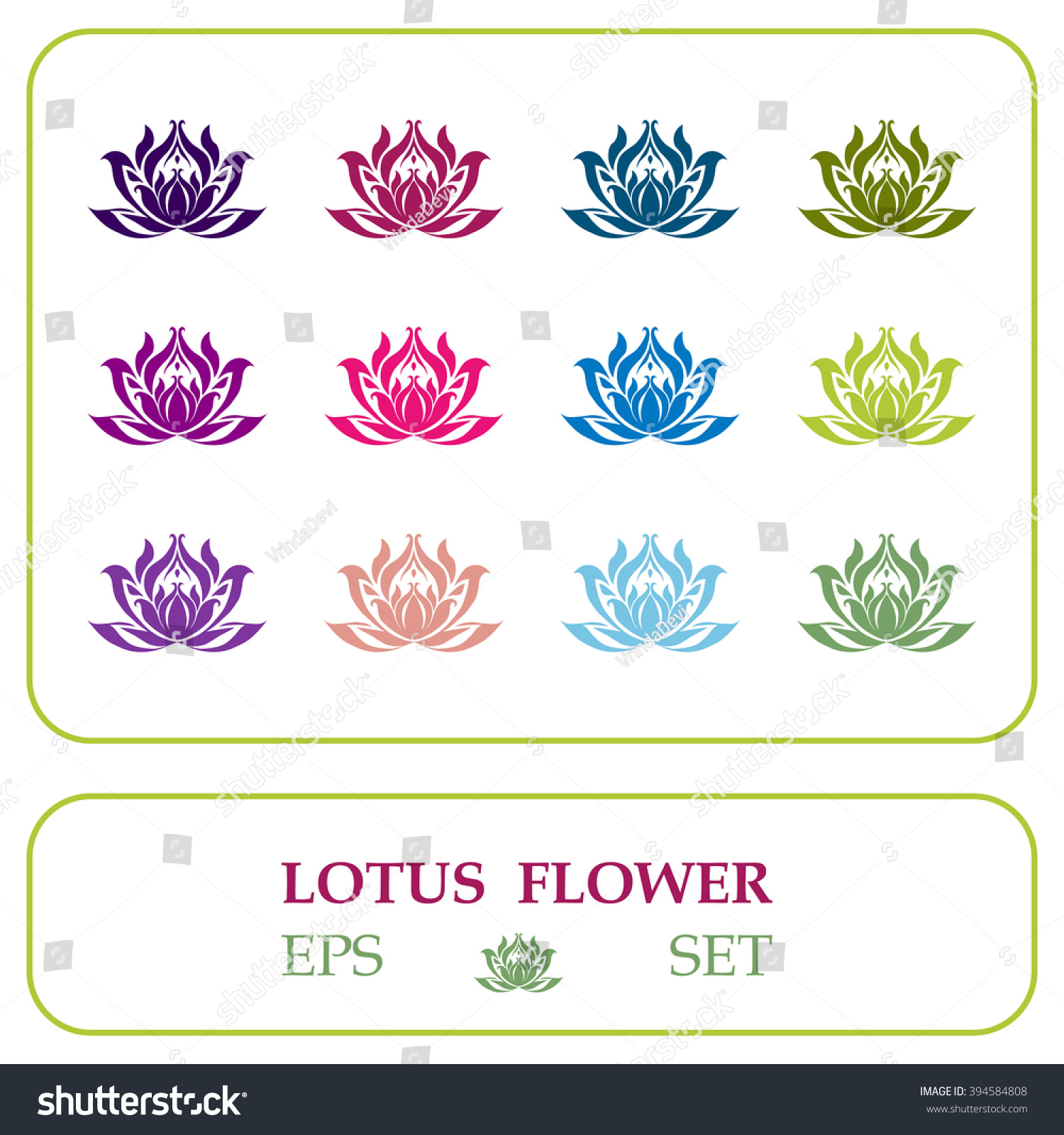 Set vectorized lotus flower vector illustration stock vector set of vectorized lotus flower vector illustration with various colors of water lilies lotus izmirmasajfo