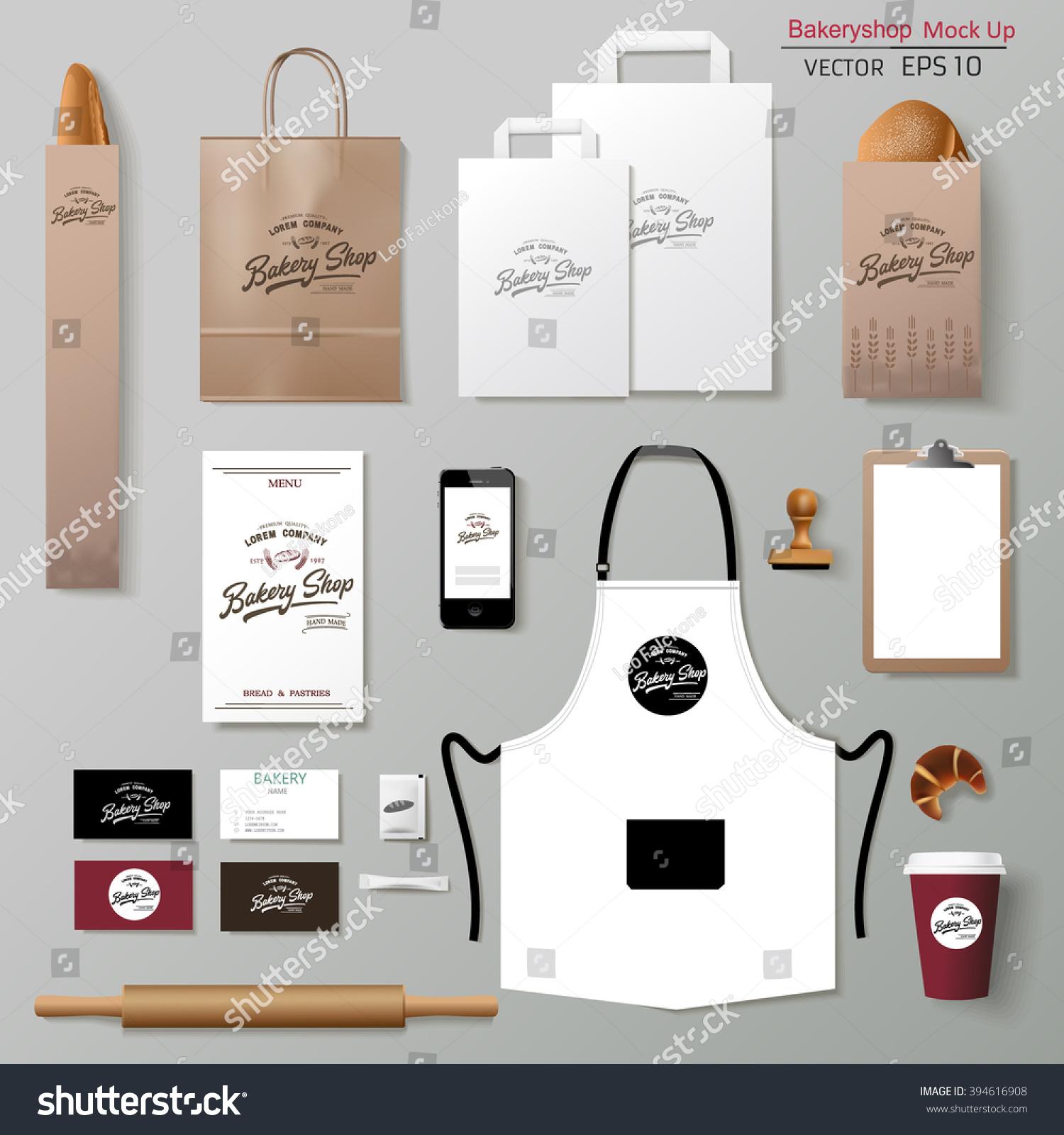 Vector Bakery Corporate Branding Identity Template Stock Vector