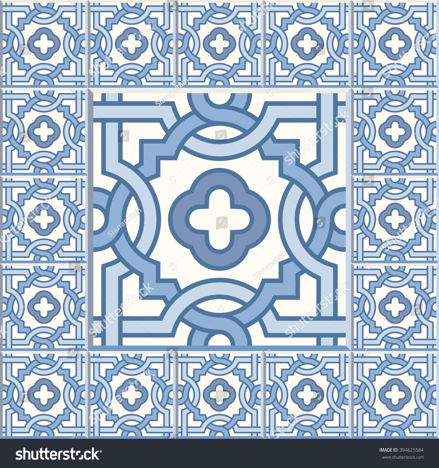 Floor Tiles Seamless Vintage Pattern Cement Stock Vector 394625584 ...