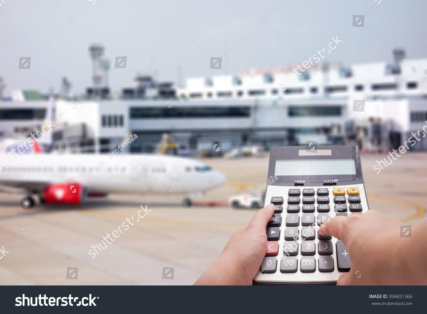 Travel cost calculation concept by… Stock Photo 394651366