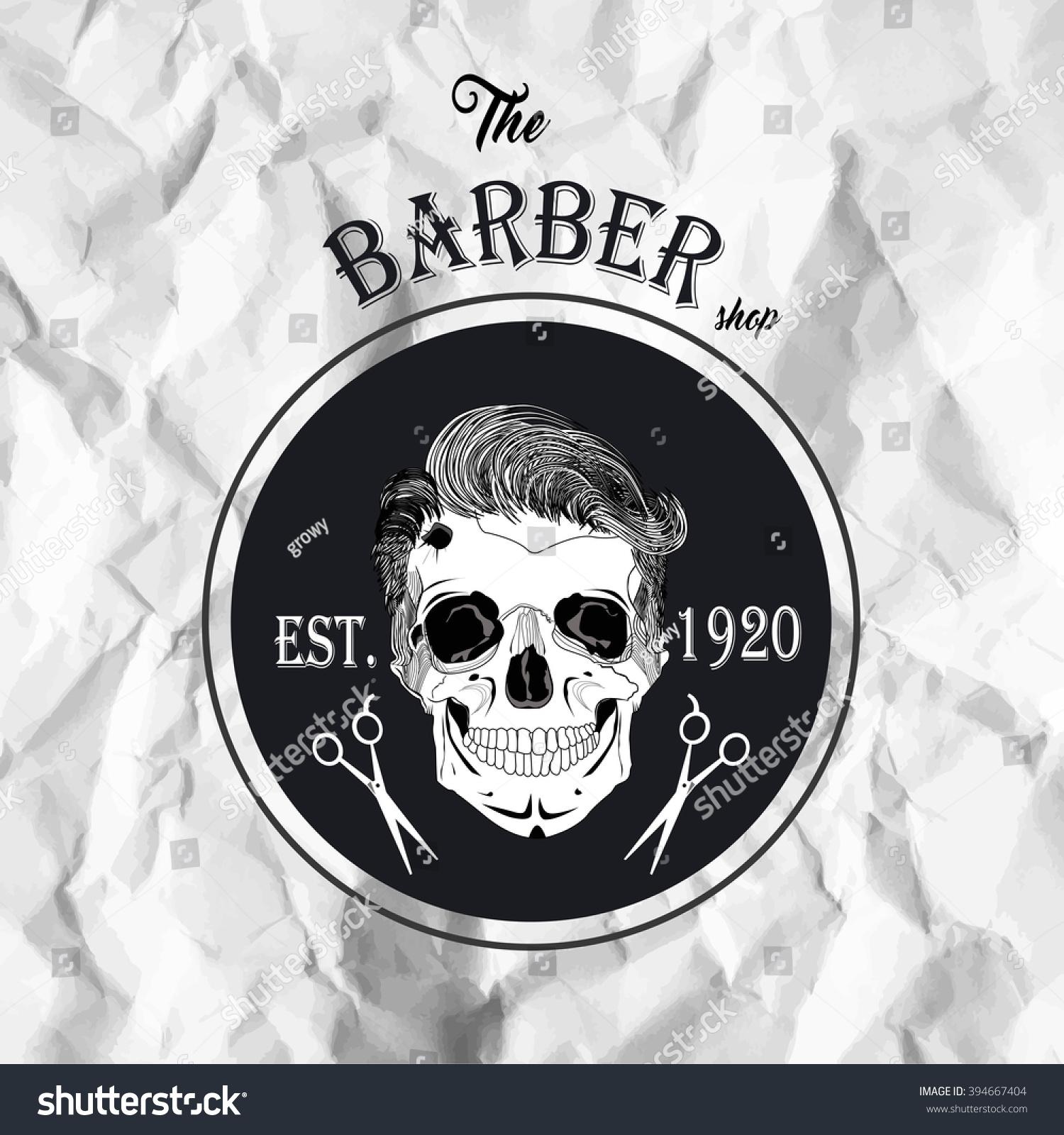Hipster barber shop business card design stock vector 394667404 hipster barber shop business card design template vector illustration magicingreecefo Choice Image