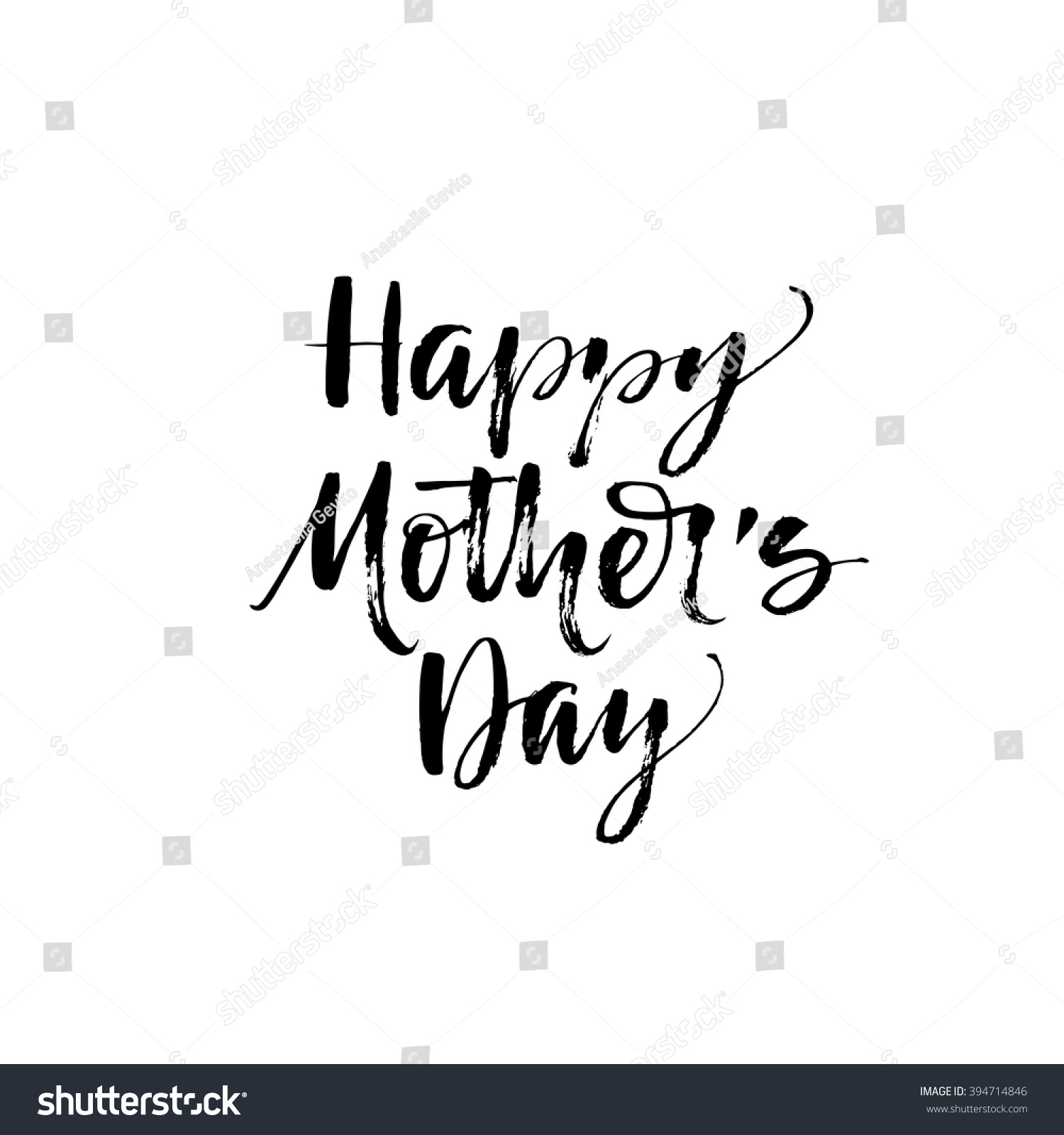 Happy Mother 39 S Day Card Hand Drawn Lettering Modern