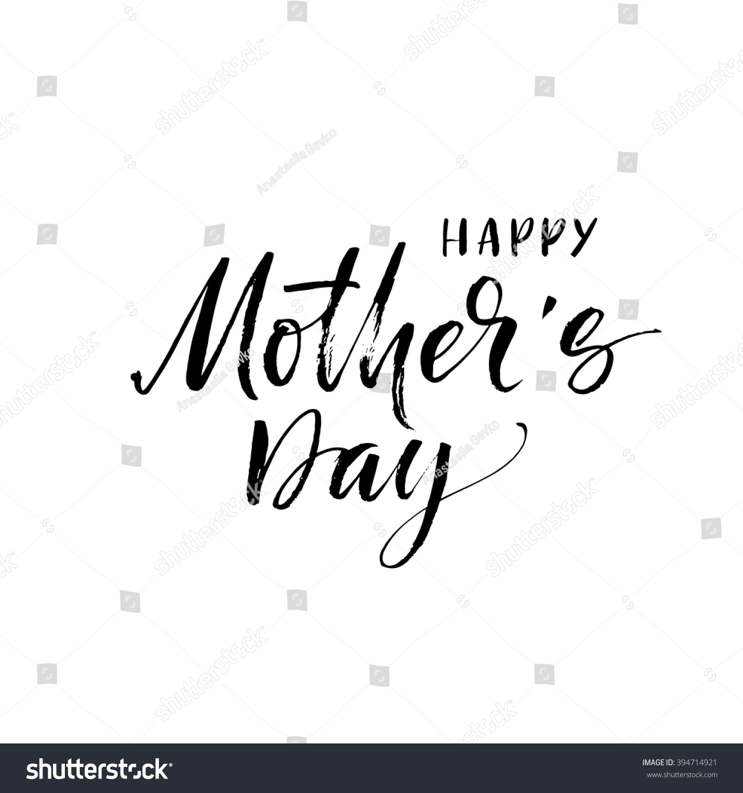 Happy mothers day card hand drawn stock vector