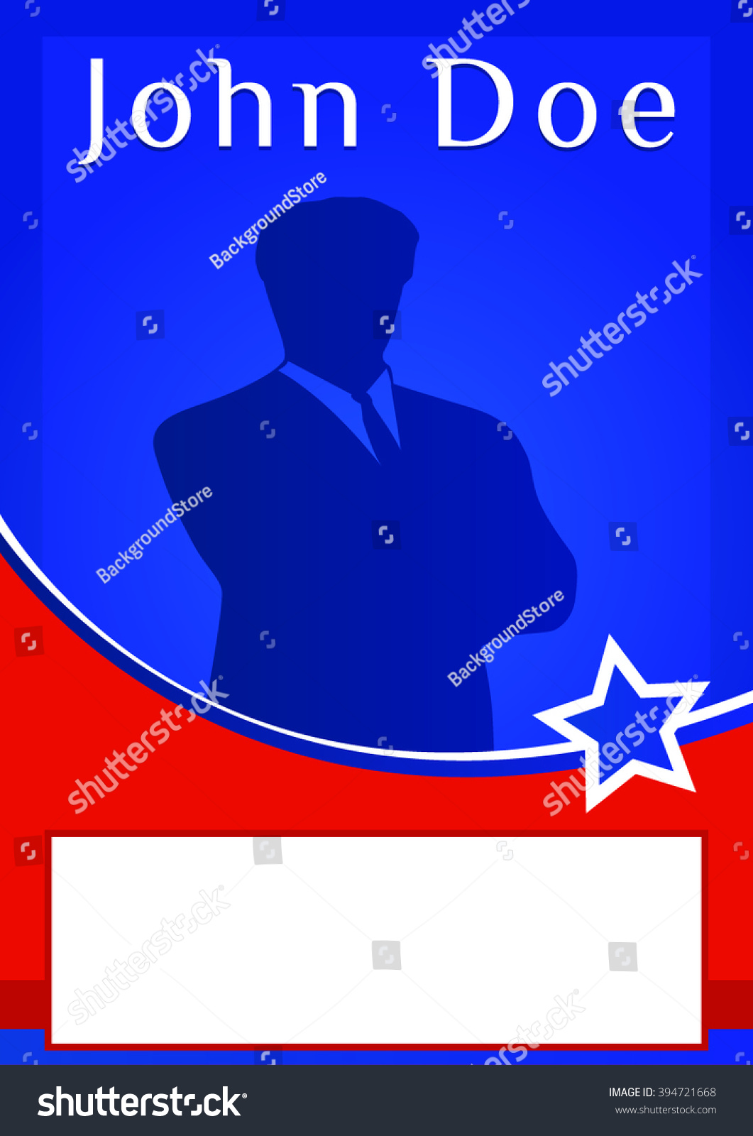 Blank Election Poster Flyer Template Stock Vector Royalty Free