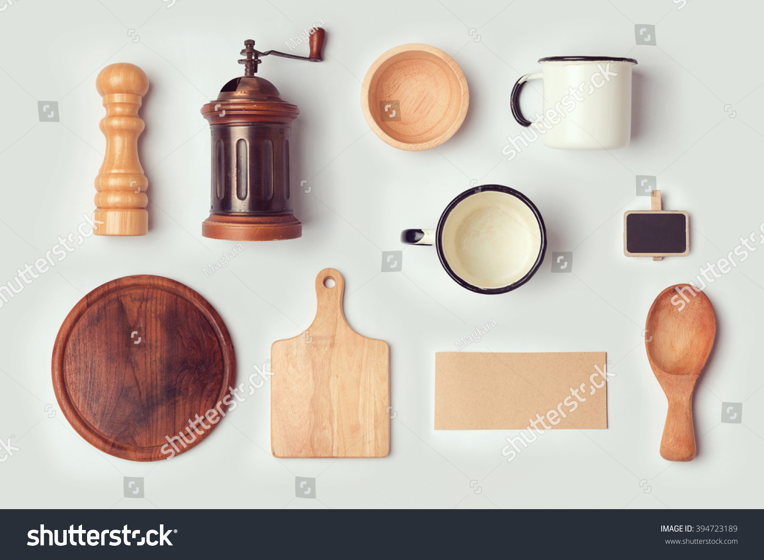 royalty free kitchen mock up template with retro 394723189 stock photo. Black Bedroom Furniture Sets. Home Design Ideas