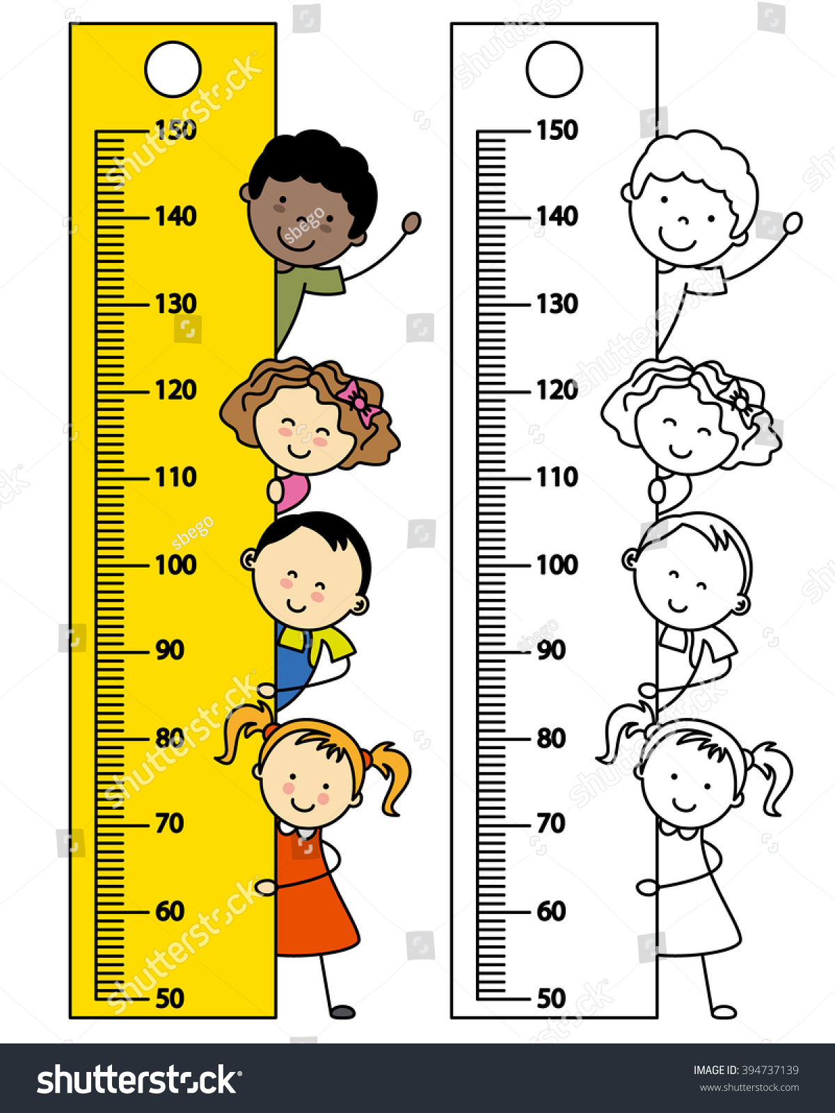 Meter Wall Tape Measure Children Stock Vector (Royalty Free ...