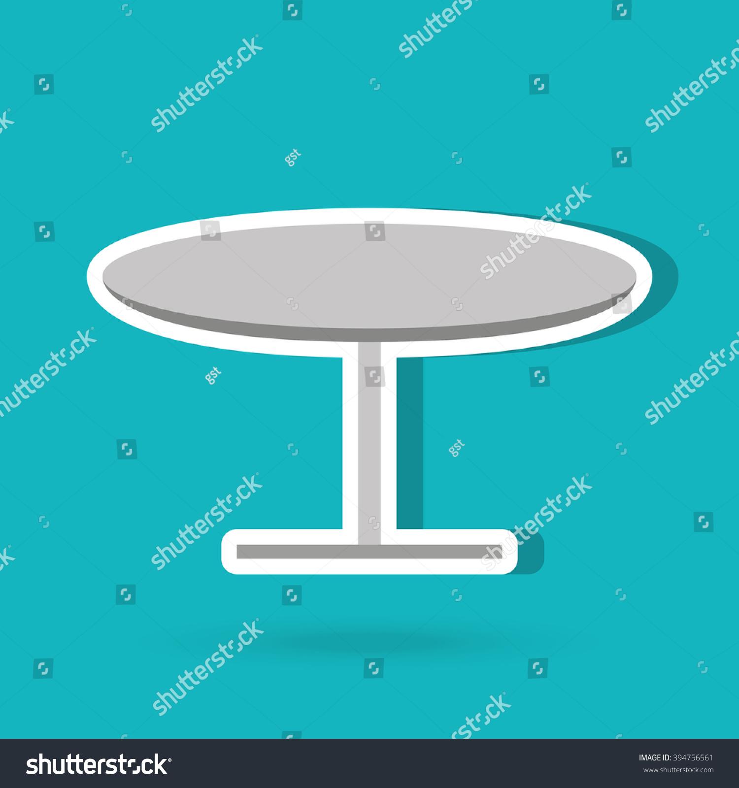 Round table design stock vector 394756561 shutterstock for Table design vector
