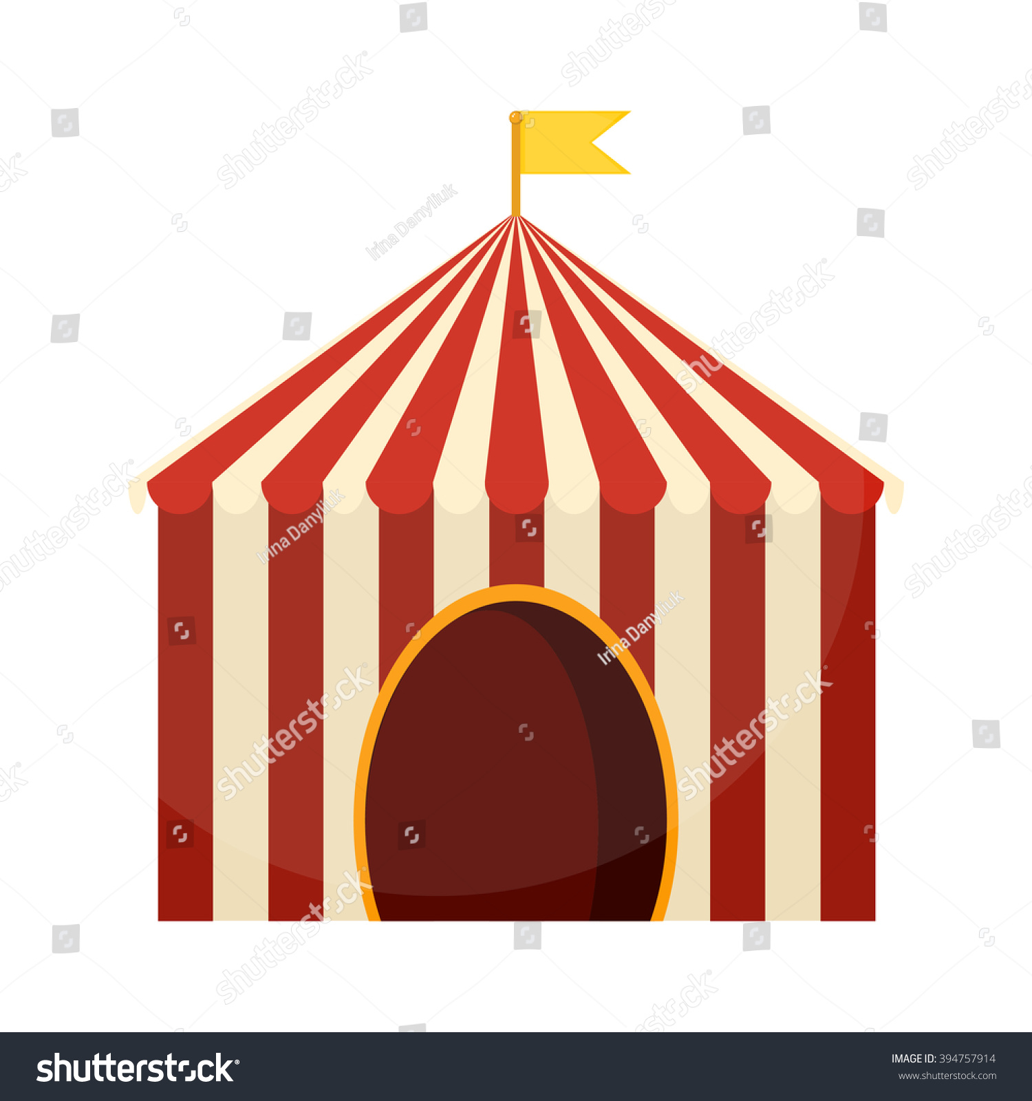 how to draw a carnival tent