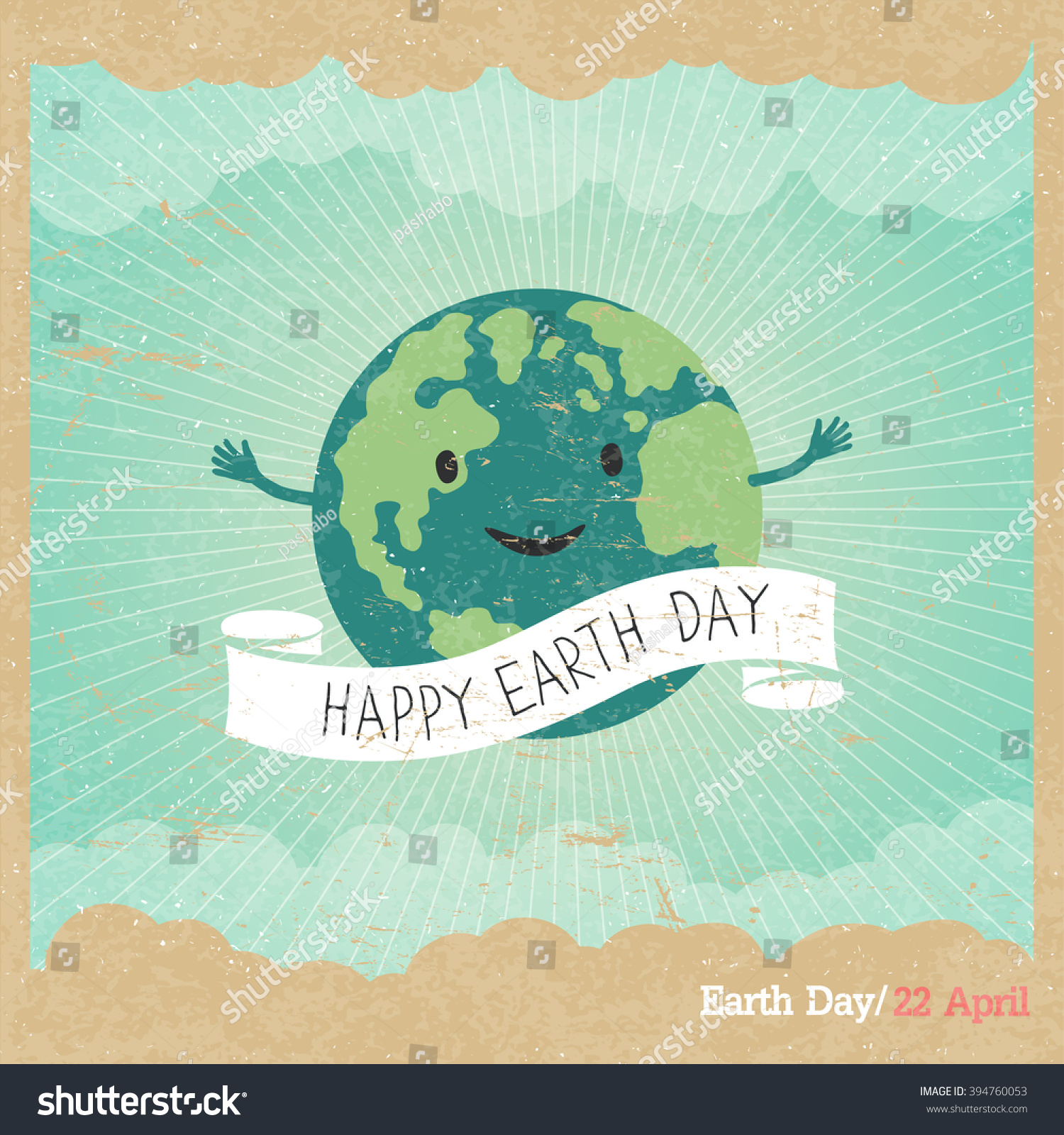 Poster design on save earth - Cartoon Earth Illustration Planet Smile And Hold Banner With Save Me Words