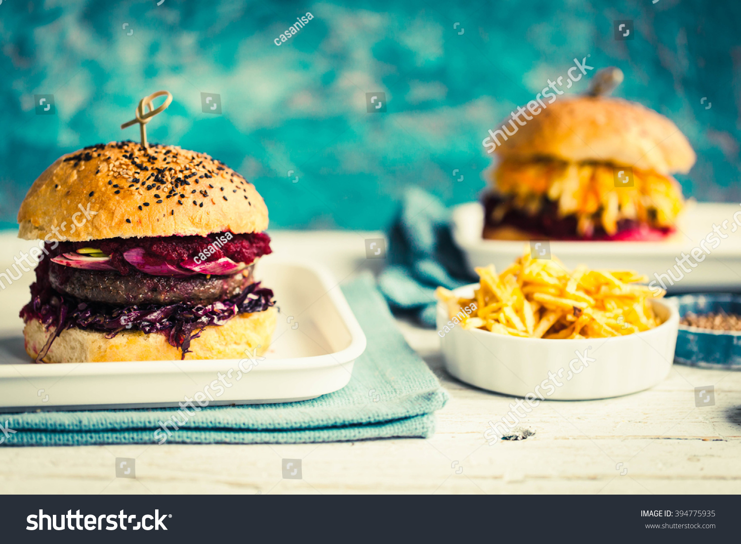 Big Homemade Burger Meat Fermented Red Stock Photo (Edit Now ...