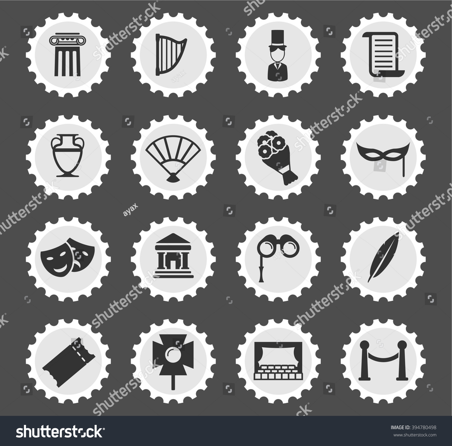 Symbol for theatre images symbol and sign ideas theatre simply symbols web user interface stock vector 394780498 theatre simply symbols for web and user buycottarizona