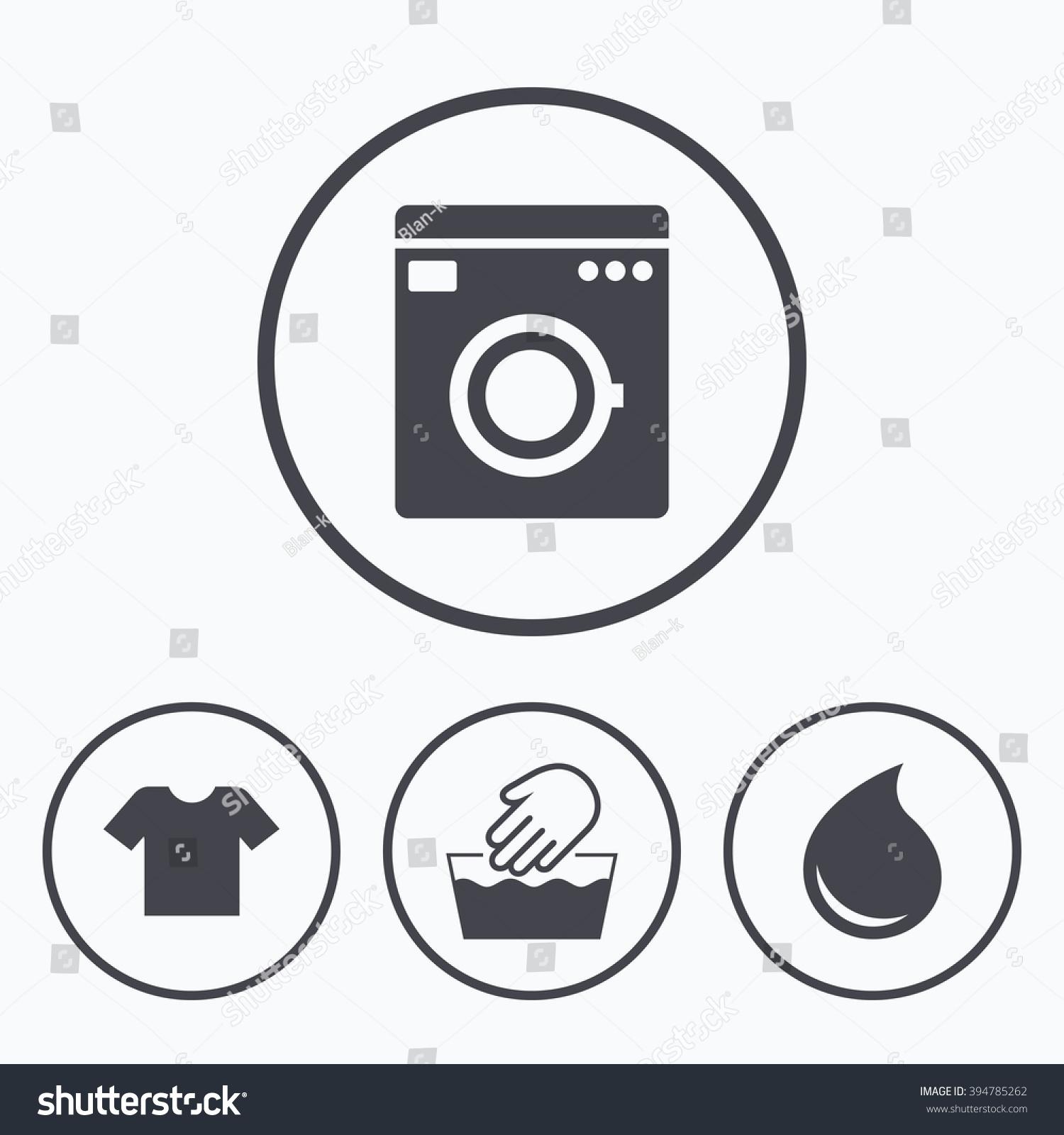 Wash machine icon hand wash tshirt stock vector 394785262 shutterstock wash machine icon hand wash t shirt clothes symbol laundry washhouse and buycottarizona Image collections