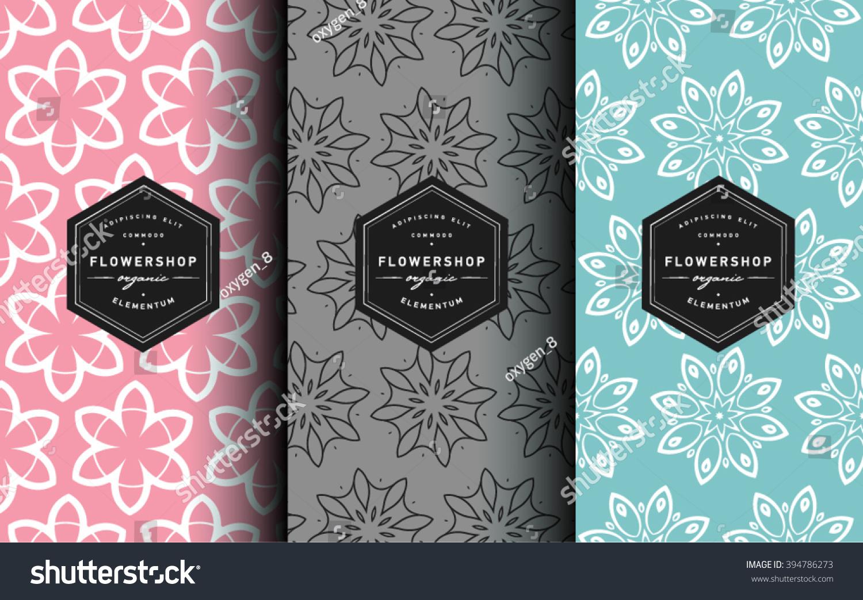Vector Set Label Design Templates Line Stock Vector (Royalty Free ...