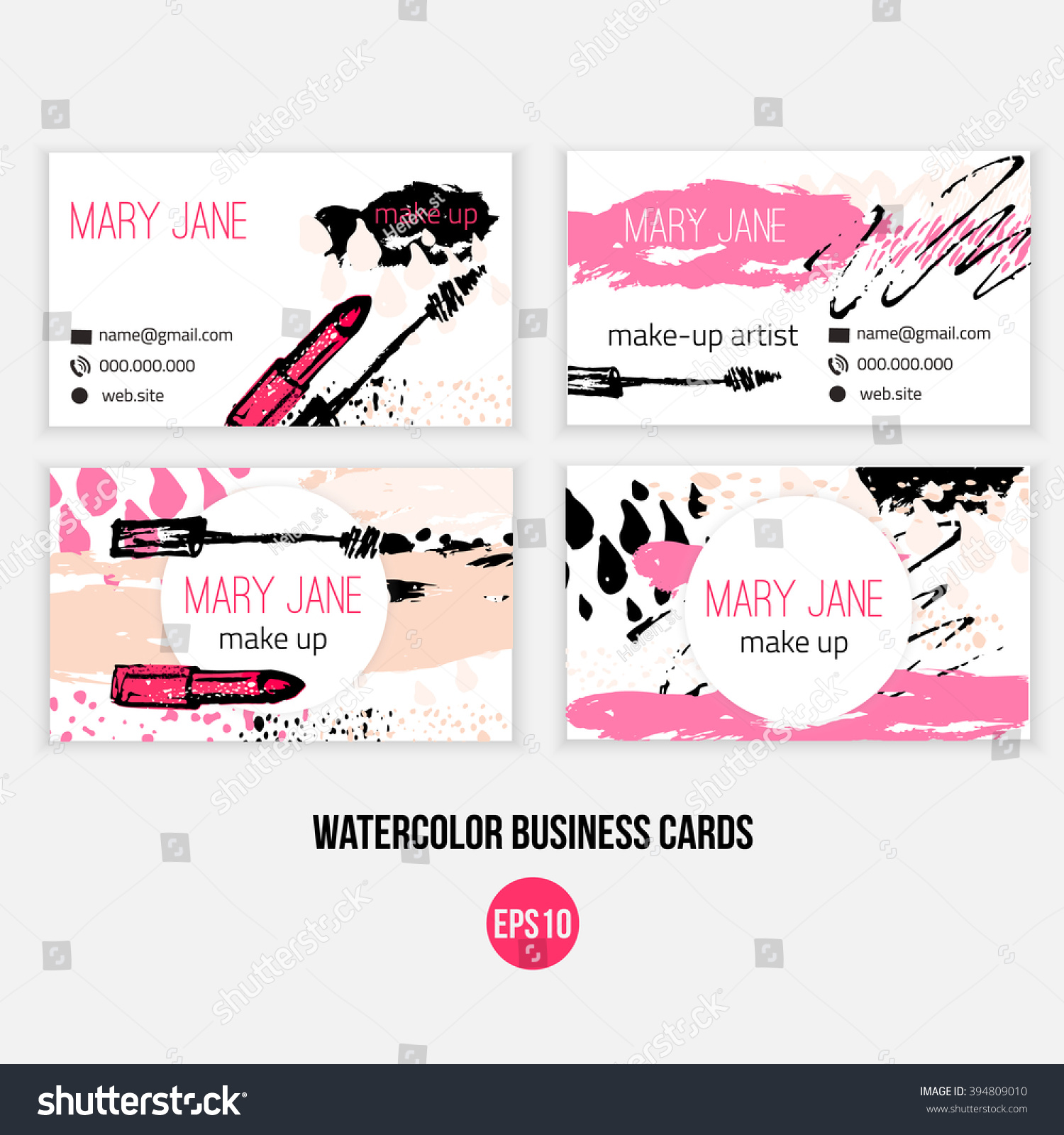 make business card template make template stock vector