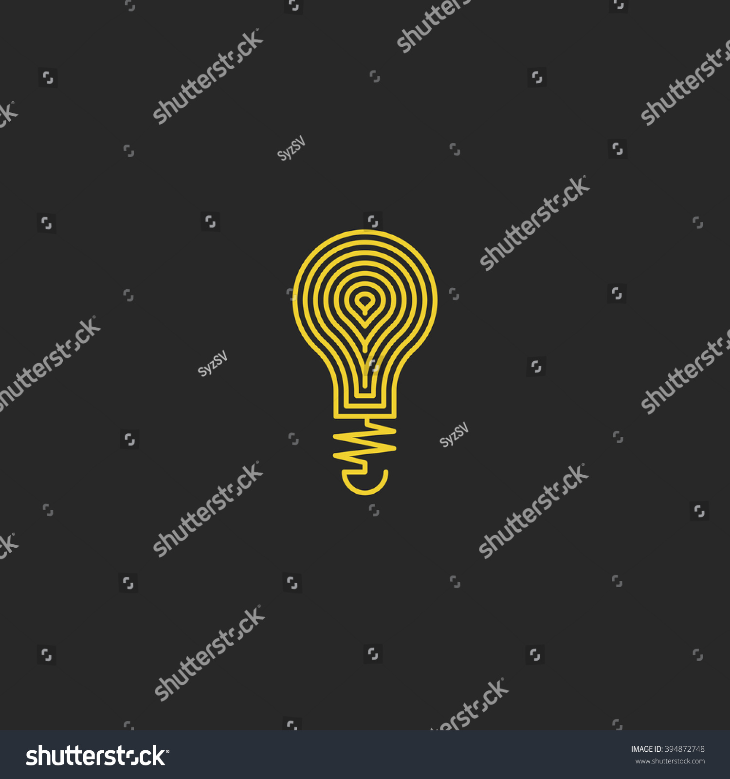 Lamp Logo Bulb Yellow Mockup Creative Stock-vektorgrafik 394872748 ...